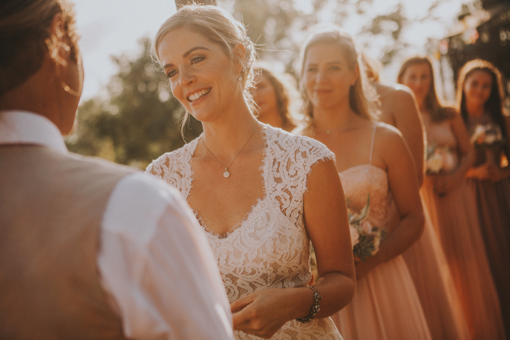 san diego wedding   photographer | view with bride in front of line up of bridesmaids