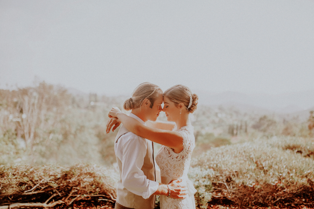 san diego wedding   photographer | bride and groom dancing with their foreheads touching