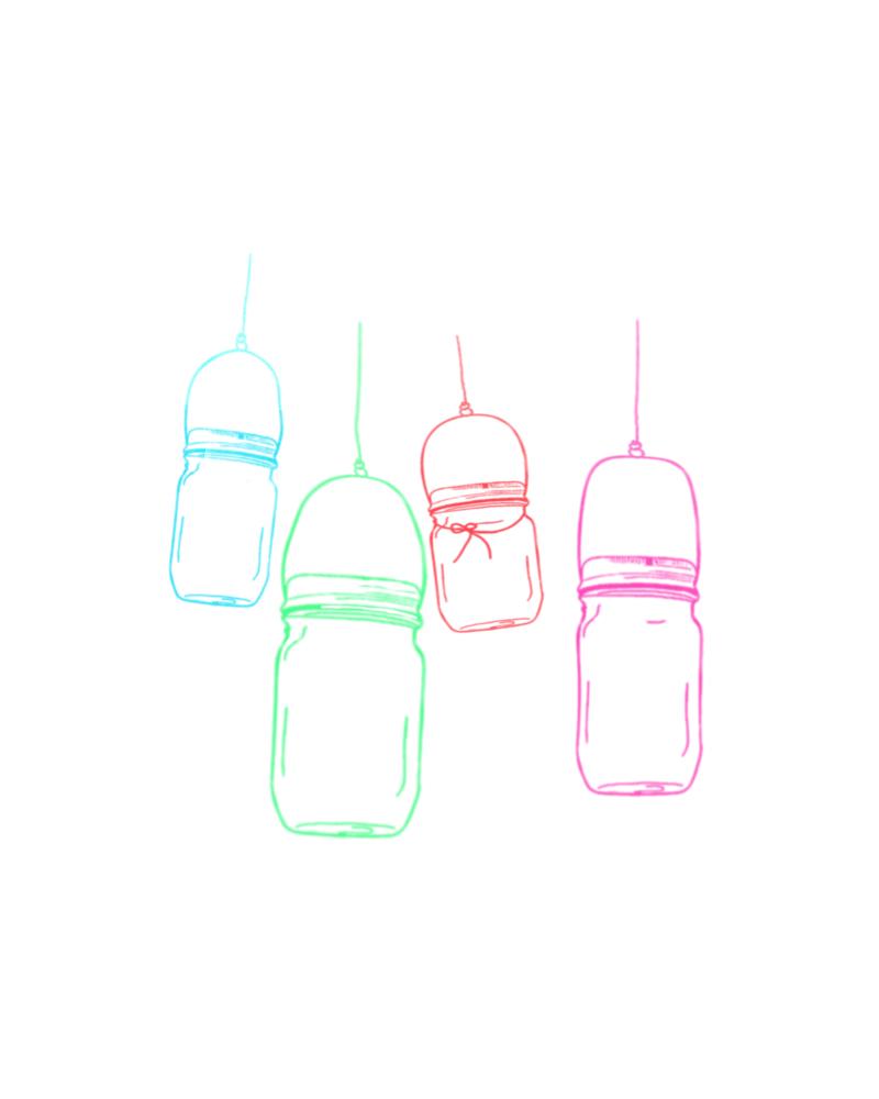 san diego wedding   photographer | sketch of jars hanging on wire