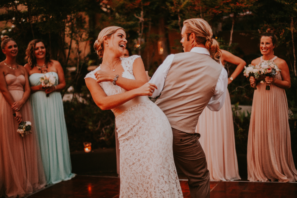 san diego wedding   photographer | bride and groom dancing back to back