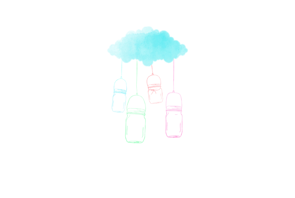 san diego wedding   photographer | sketch of jars hanging from cloud
