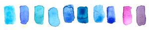 san diego wedding   photographer | palette of blue paints