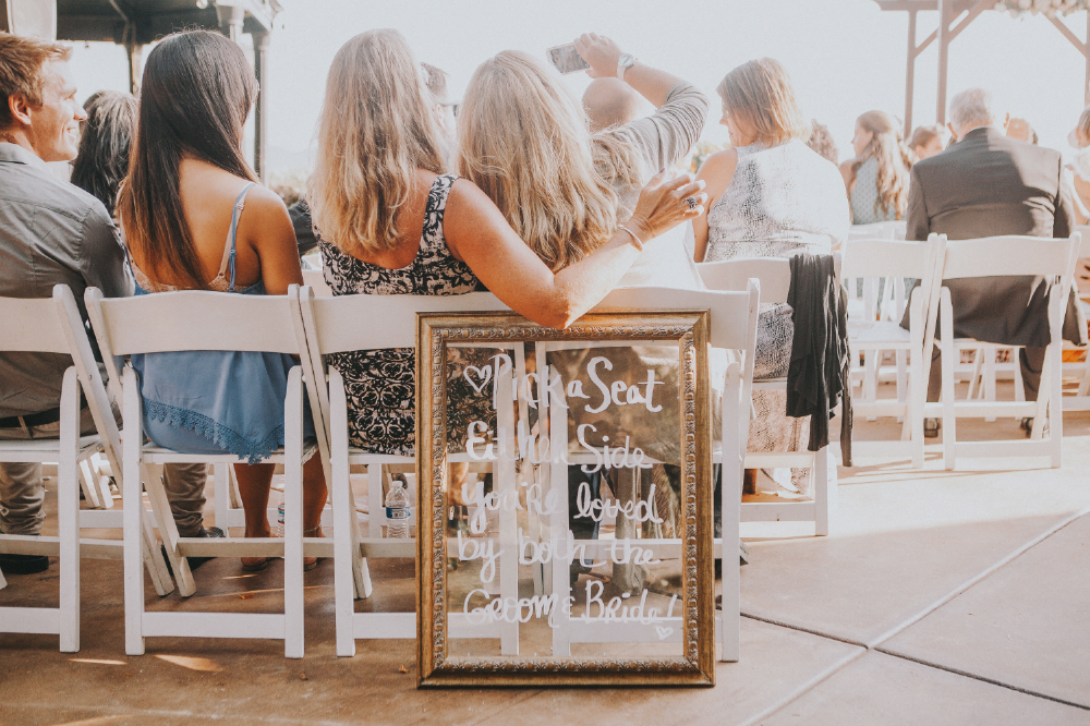 san diego wedding   photographer | audience with two women about to take a selfie