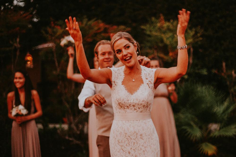 san diego wedding   photographer | bride dancing in front of groom on dance floor