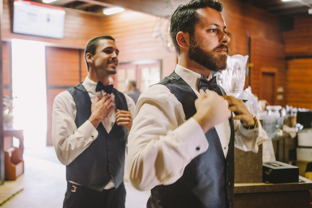 san diego wedding   photographer | men in vests and bowtie getting ready