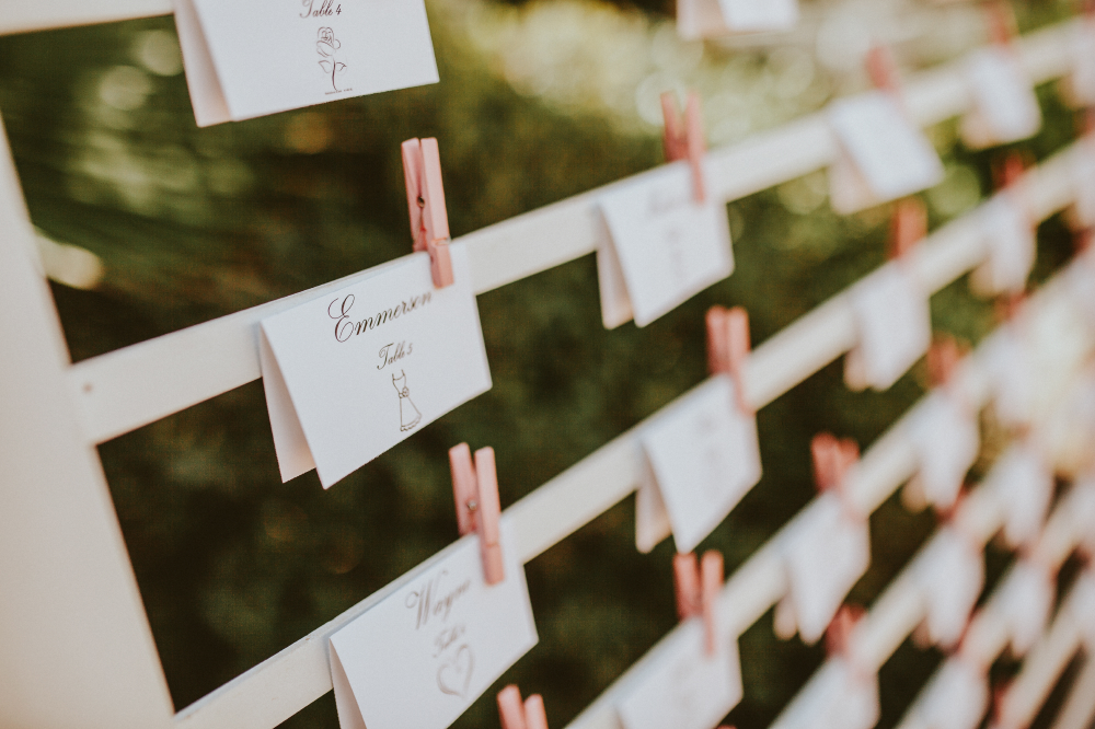 san diego wedding   photographer   wooden frame with table assignments