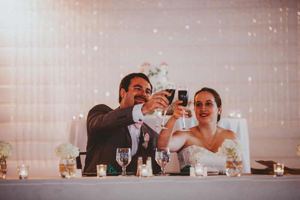 san diego wedding   photographer   bride and groom with wine glasses filled lifting up their   glasses