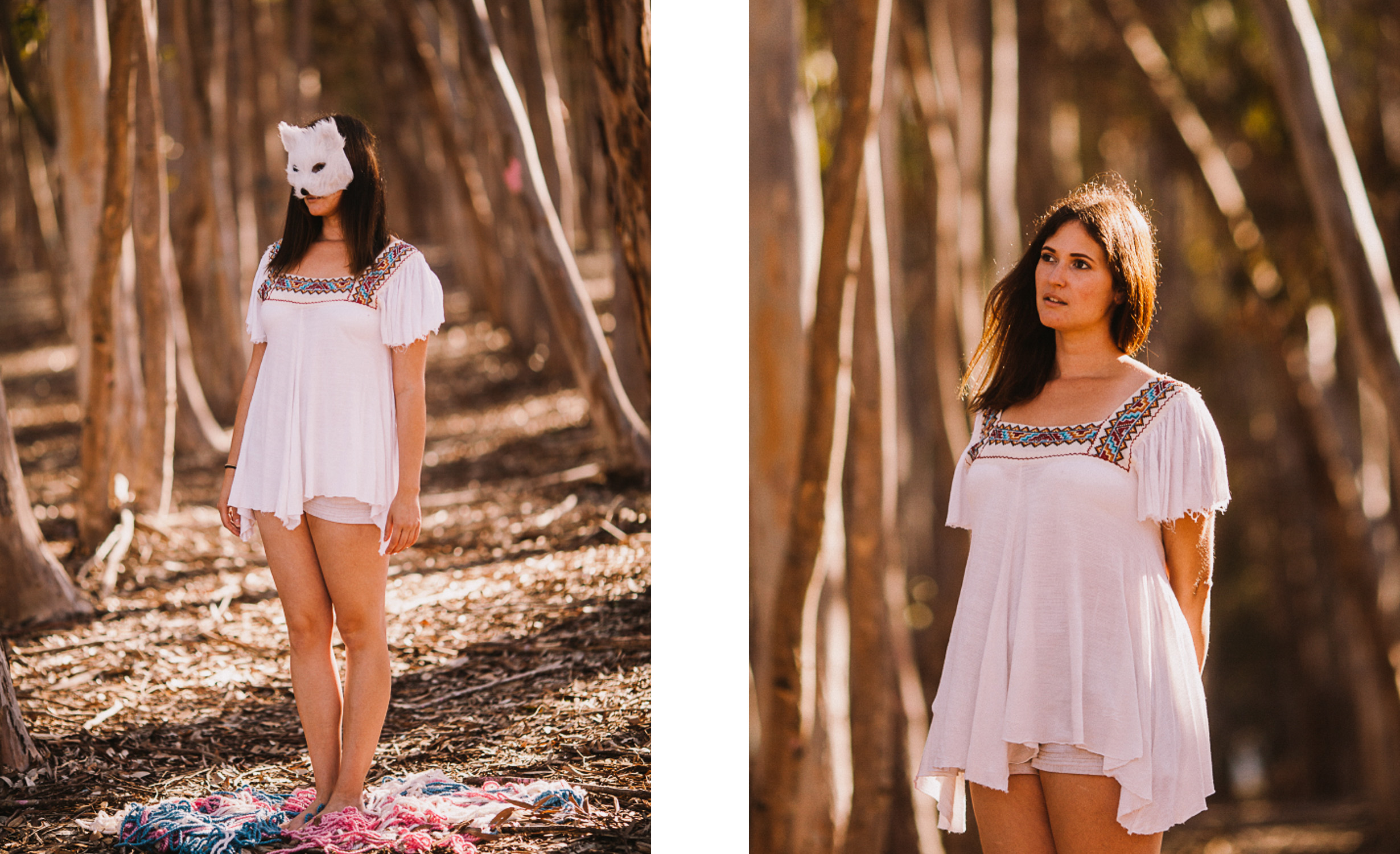 san diego wedding   photographer   collage of woman in white with mask on
