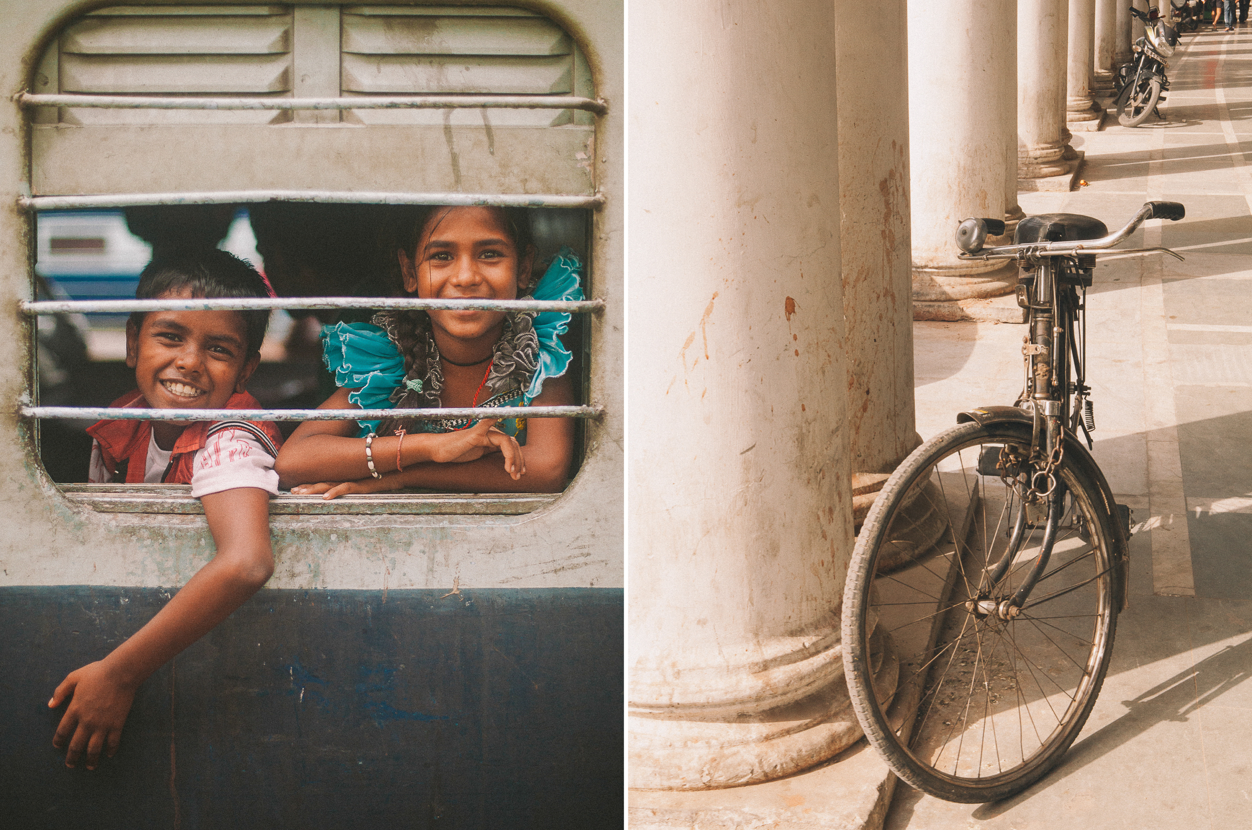 san diego wedding   photographer | collage of children peeking through window and a bike