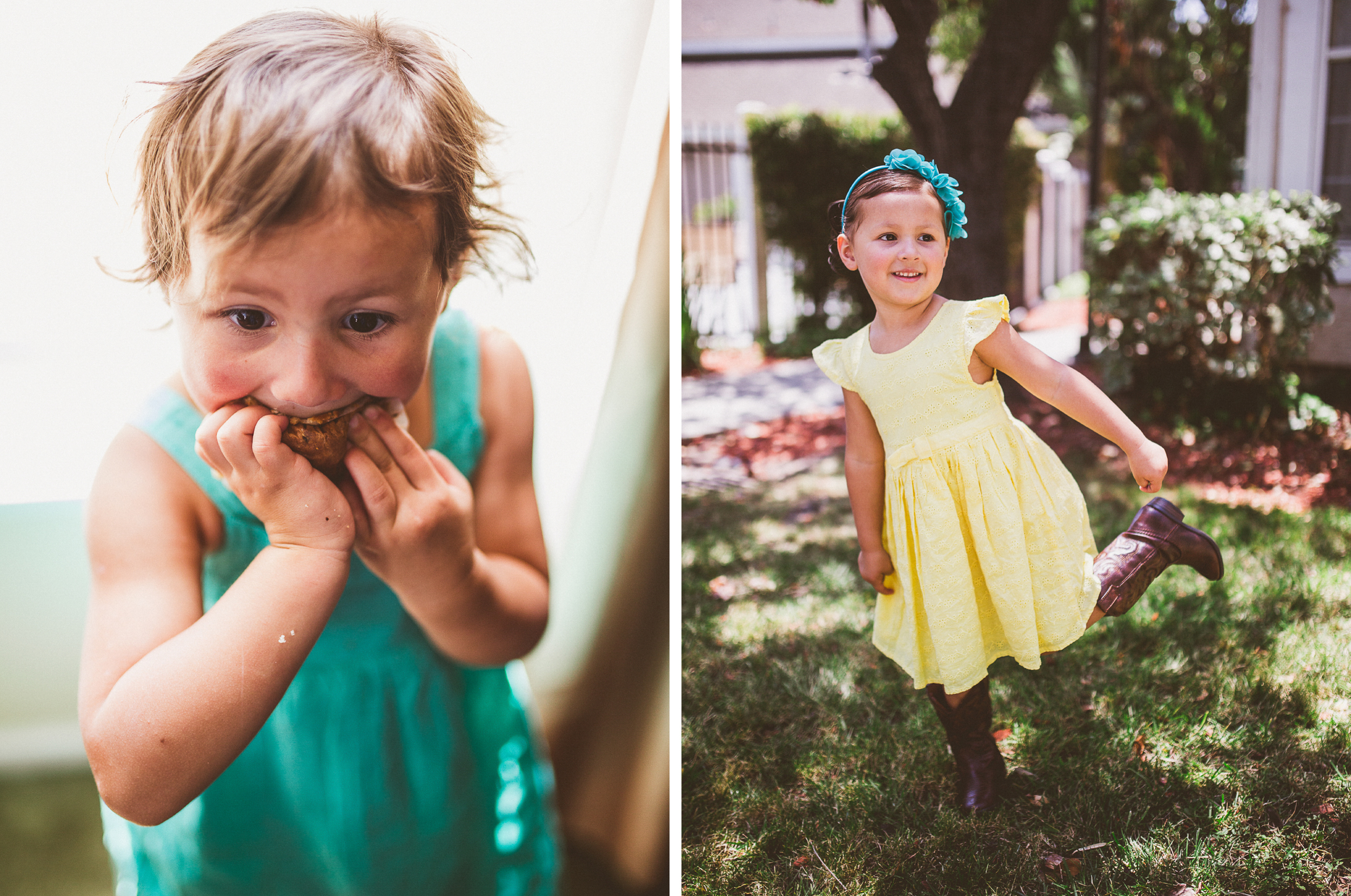 san diego wedding   photographer   collage of children in pastel clothing and boots