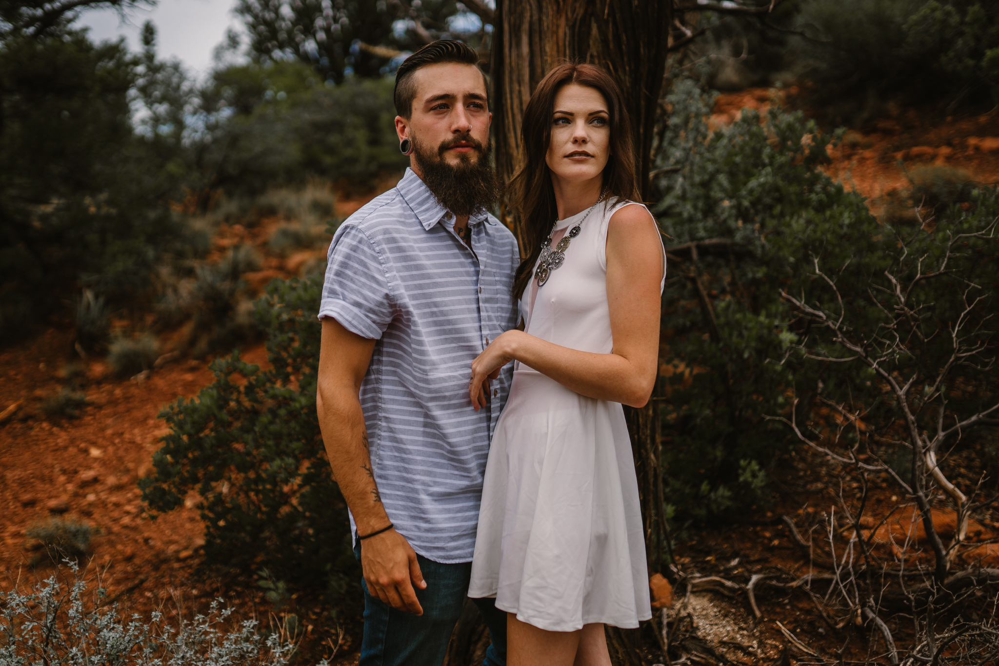 san diego wedding   photographer | bearded man in blue with woman in white