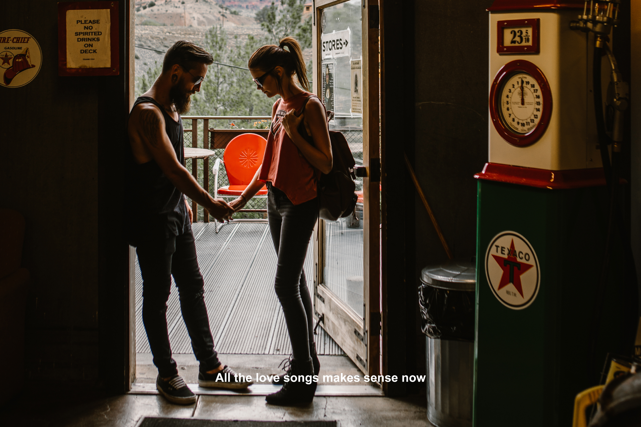 san diego wedding   photographer | couple in doorway of   old timey store