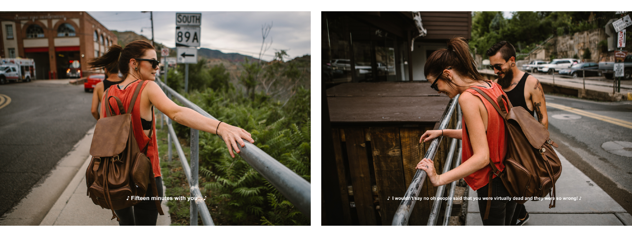 san diego wedding   photographer | collage of woman leaning against pipe railing