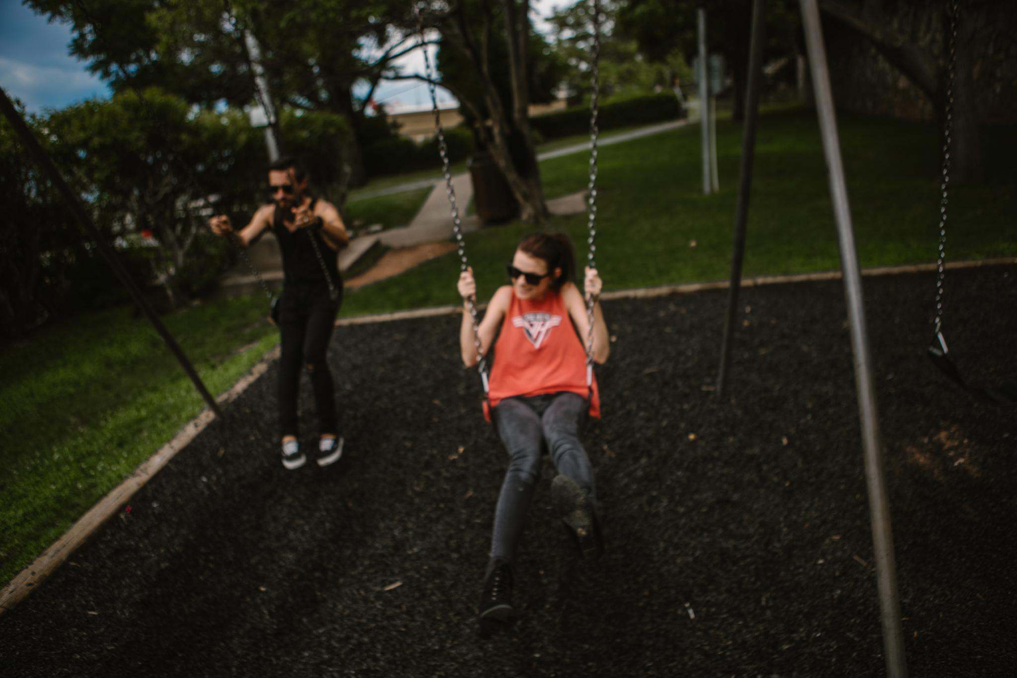san diego wedding   photographer | couple on swings