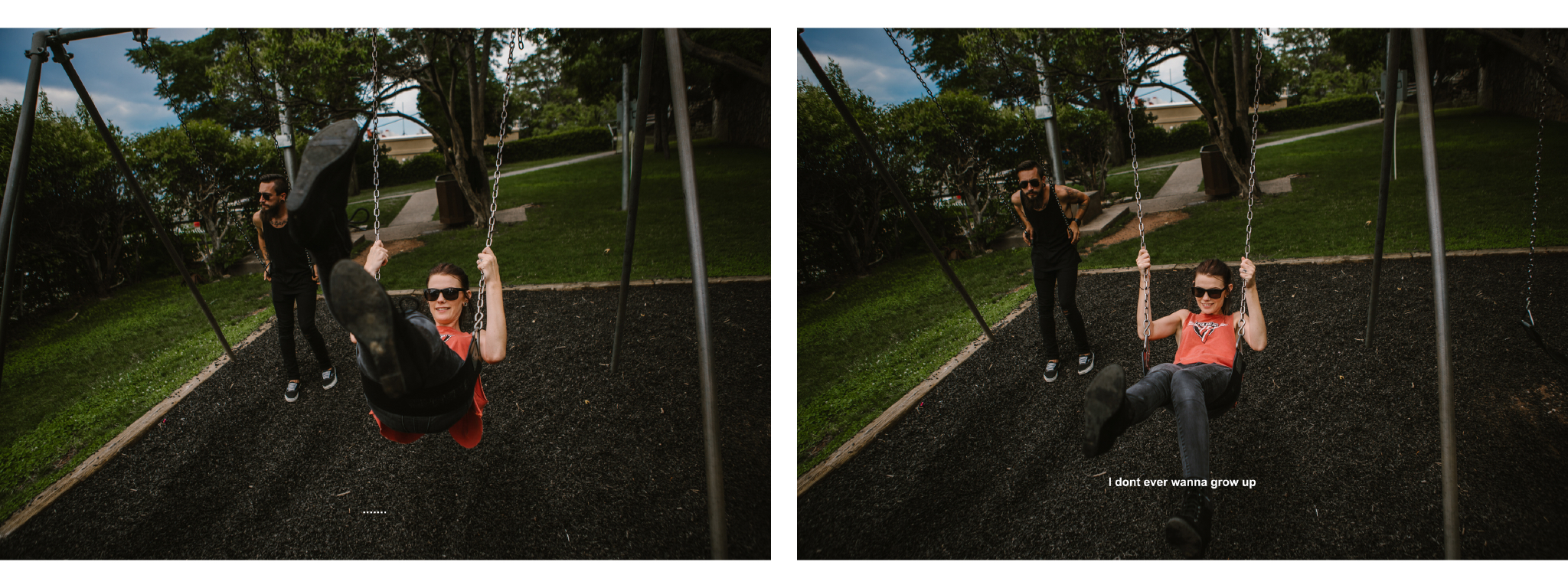san diego wedding   photographer | collage of couple in swings