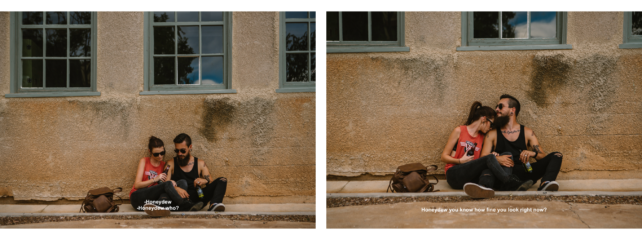san diego wedding   photographer | collage of couple sitting on sidewalk