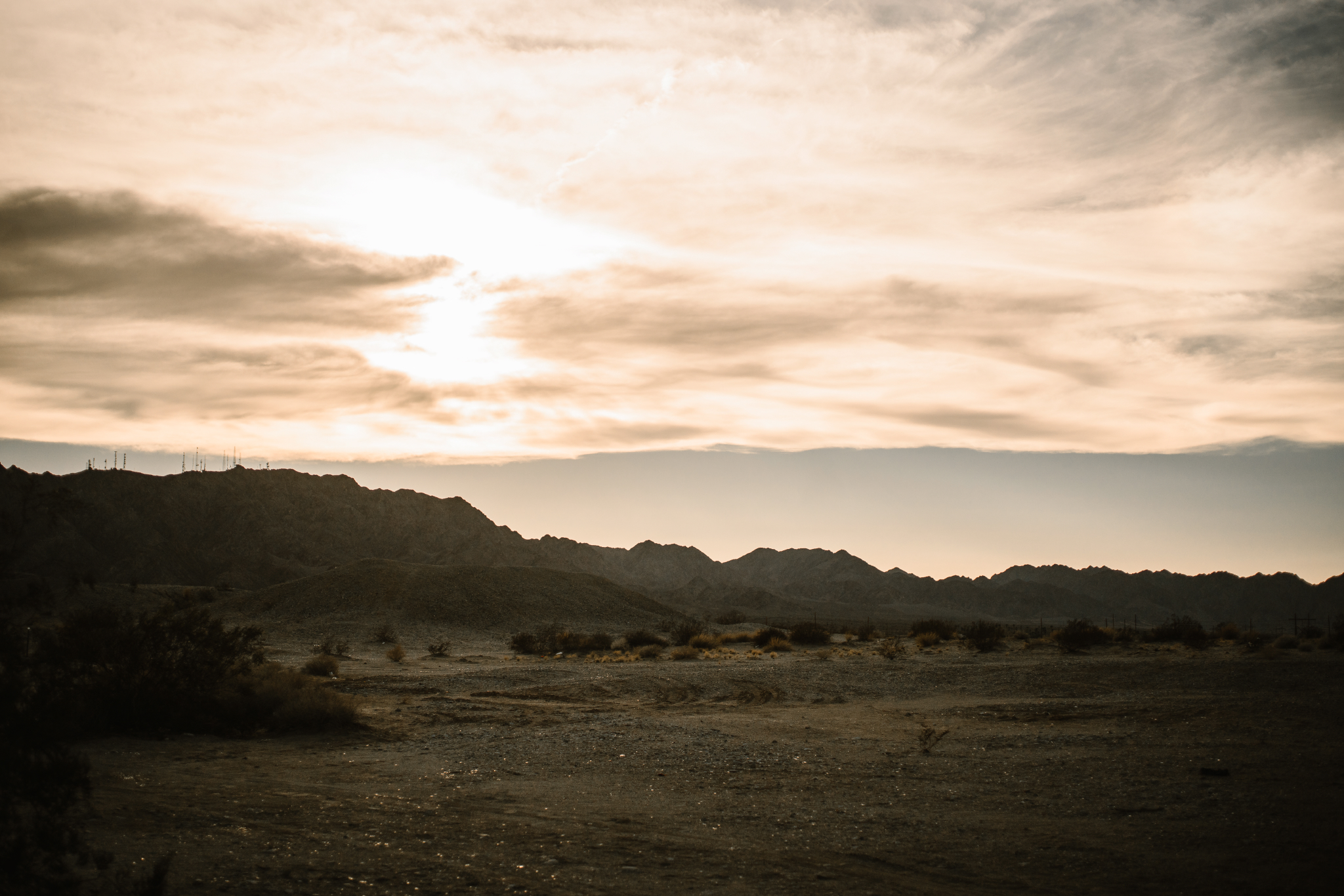 san diego wedding   photographer | picturesque view of dry terrain with sunset about to come