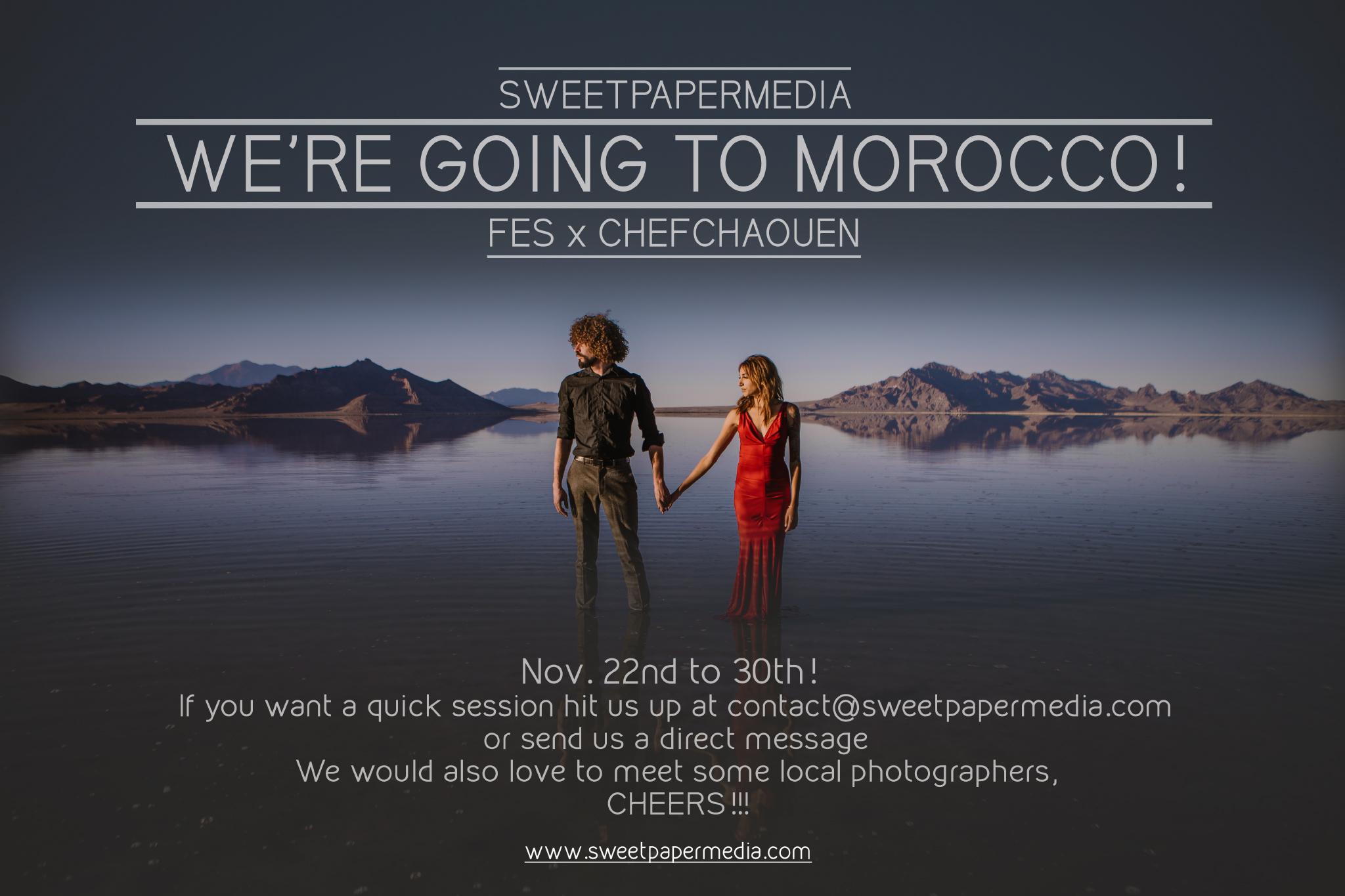 Let's shoot in Morocco!