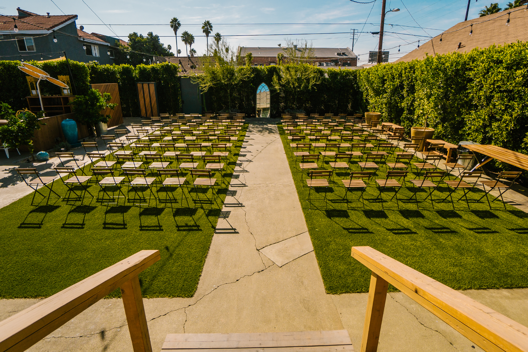 san diego wedding   photographer | wedding aisle on church lawn