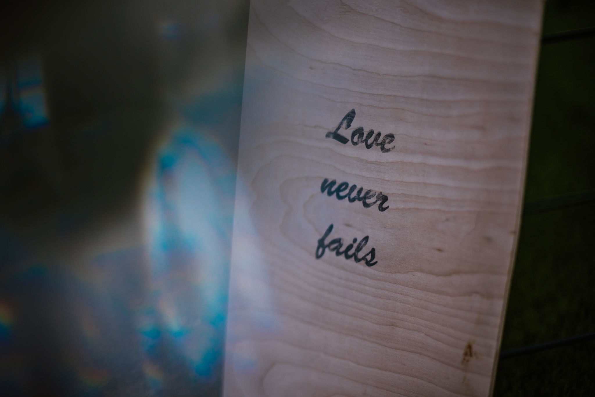 san diego wedding   photographer | sign that says love never fails