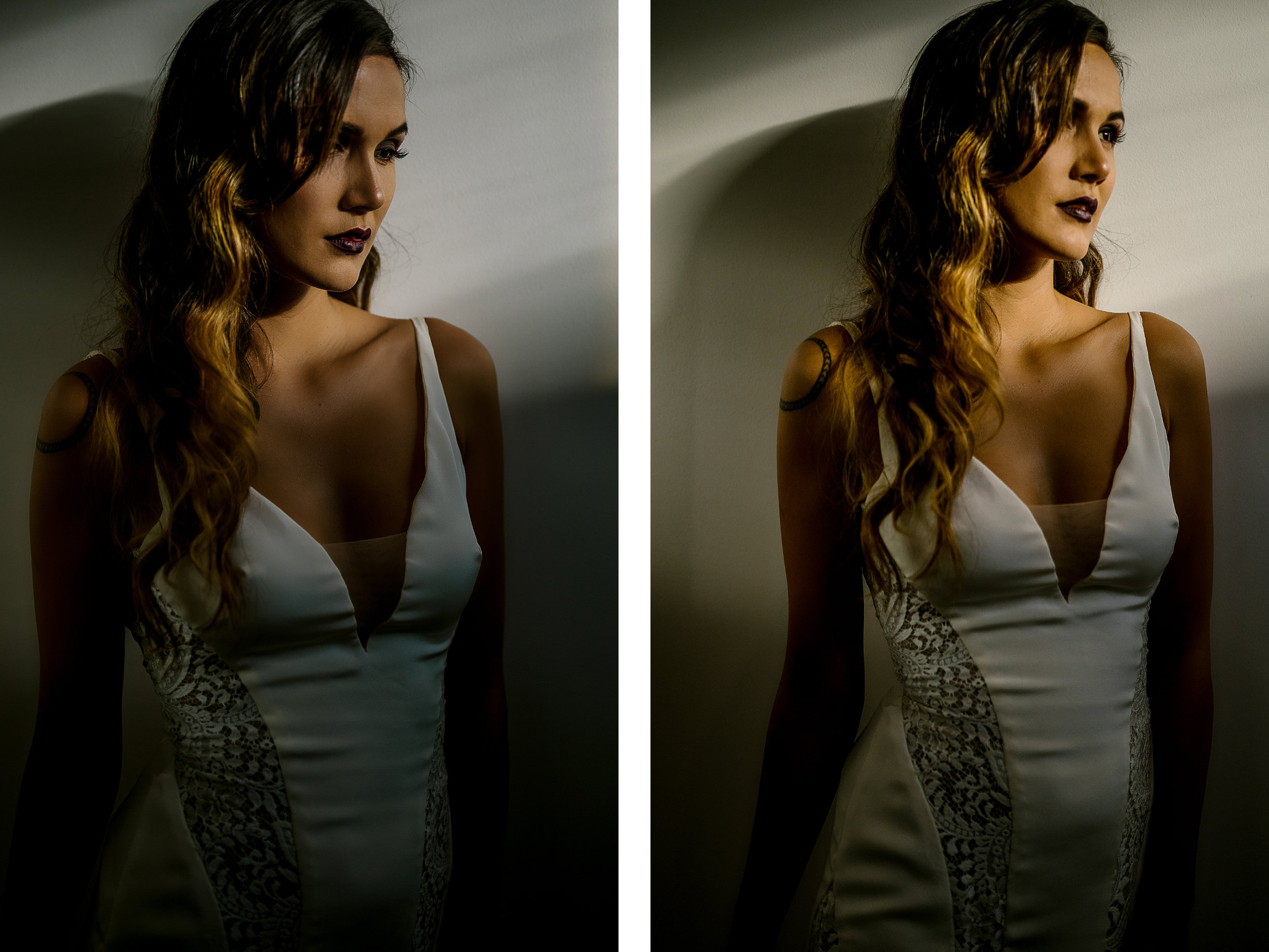 san diego wedding   photographer   collage of woman in wedding dress looking outside illuminated   by sunrays