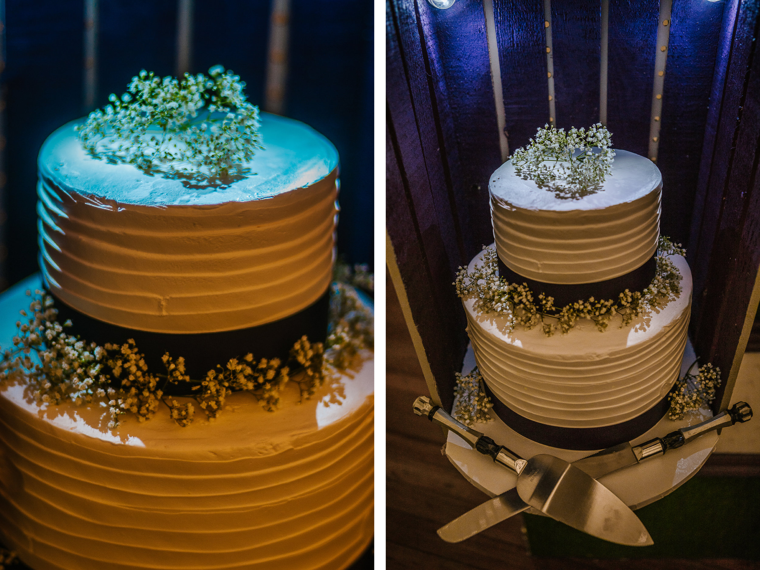 san diego wedding   photographer | collage of cake topped with small flowers