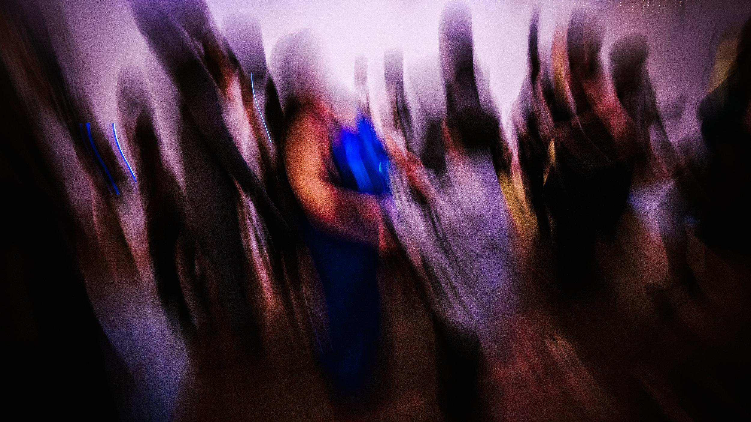san diego wedding   photographer   blurred distorted picture of dance floor