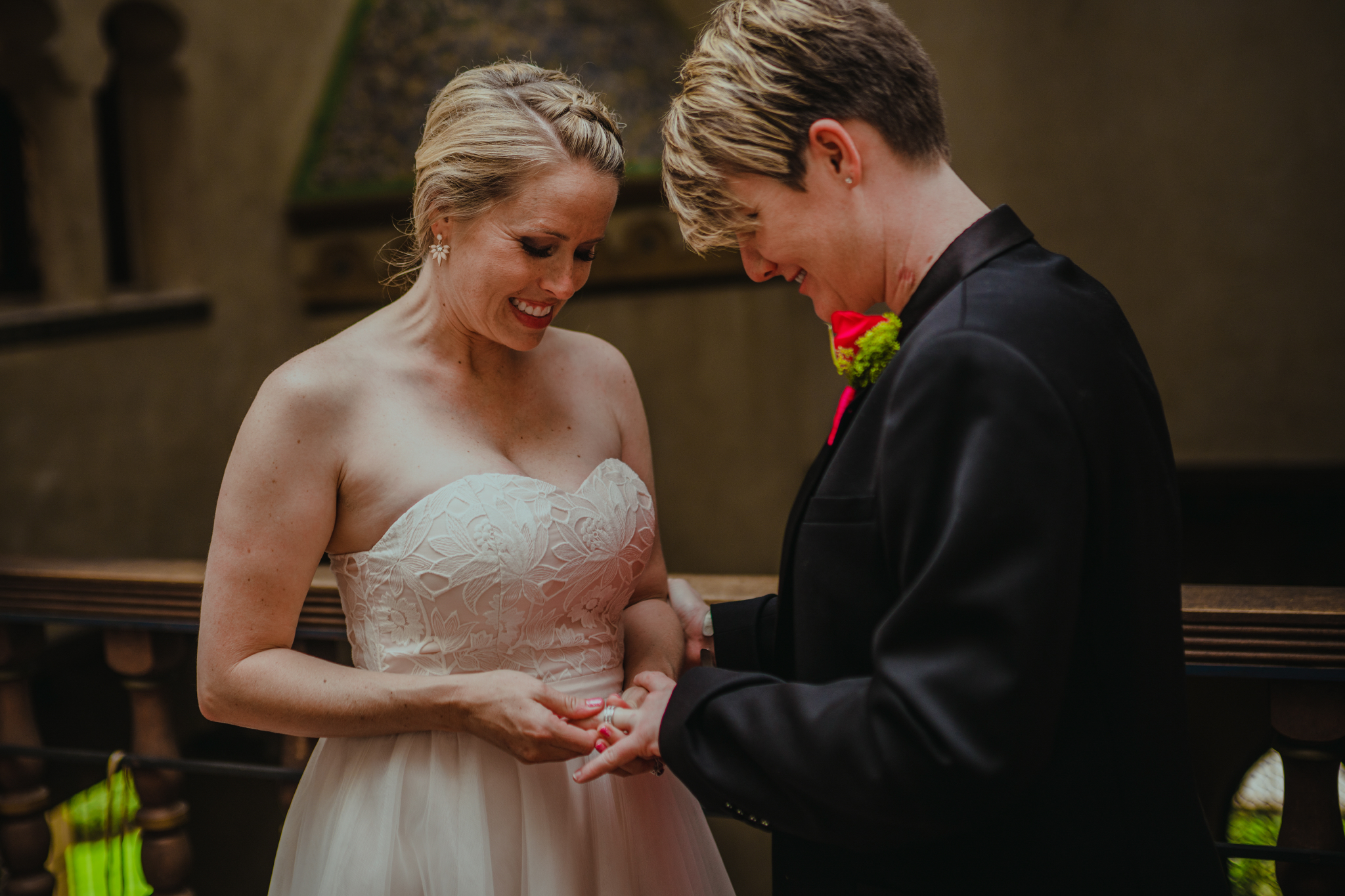 san diego wedding   photographer | woman putting ring on woman's finger