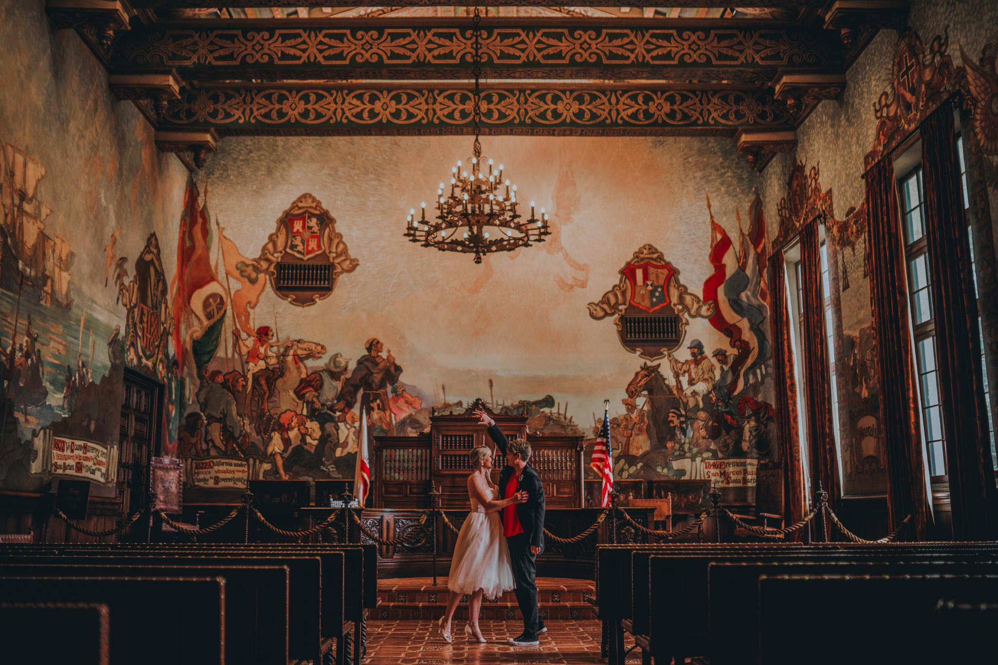 san diego wedding   photographer | couple in hall