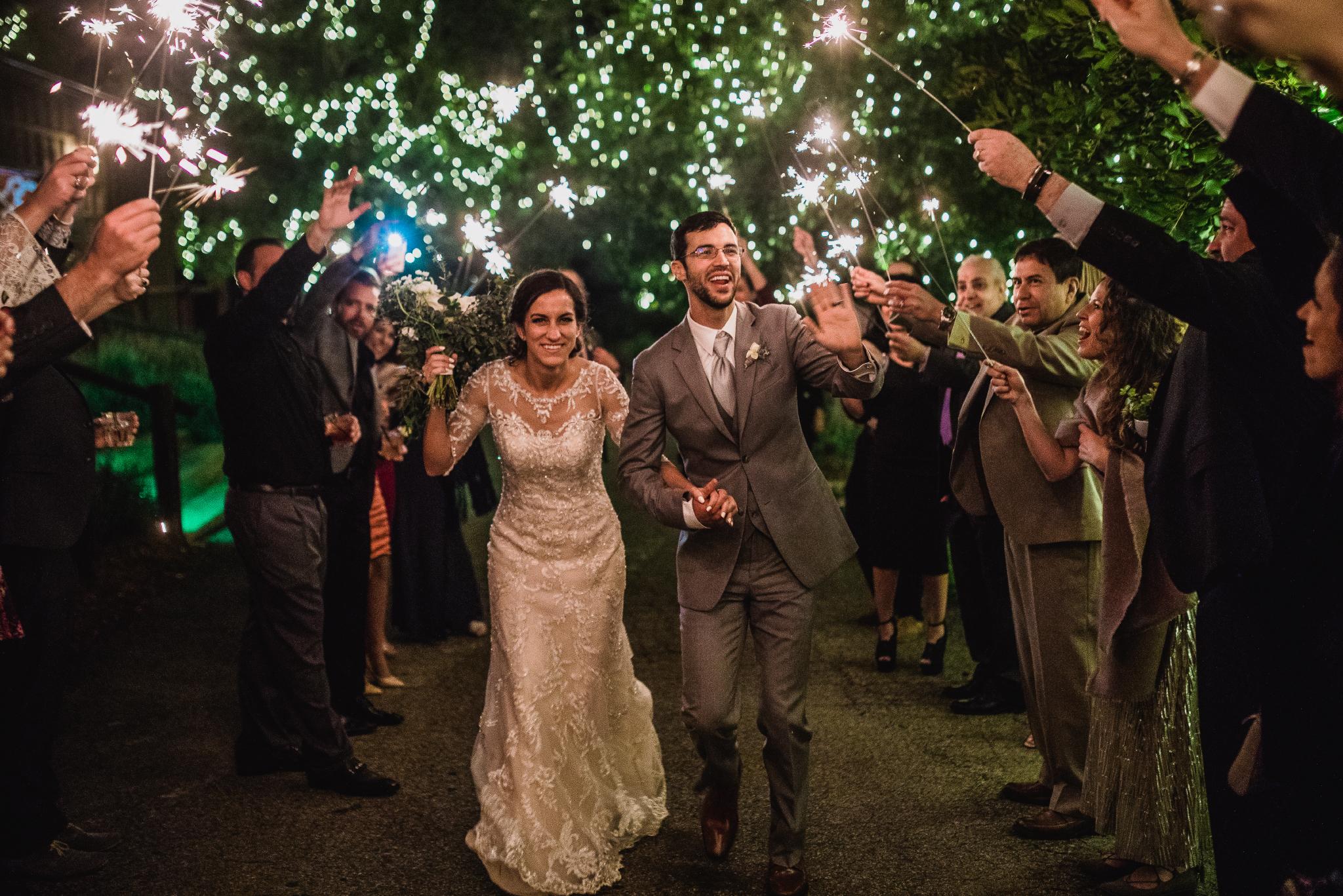 san diego wedding   photographer | couple under sparklers