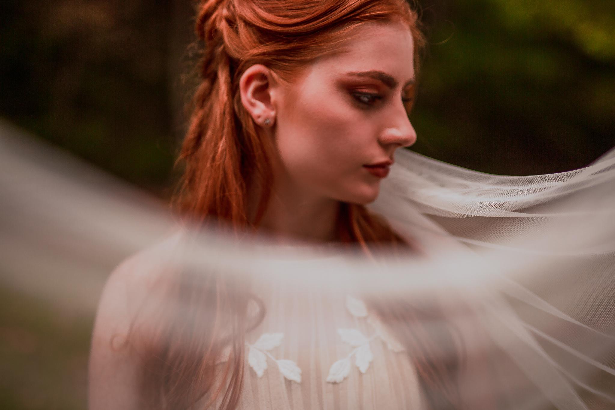 san diego wedding   photographer | woman behind veil