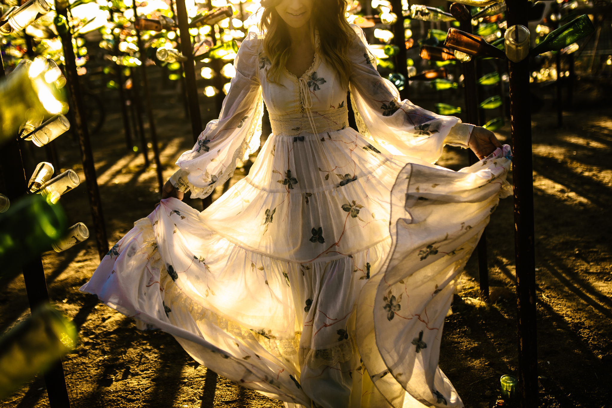 san diego wedding   photographer | woman with flowy dress against sunset
