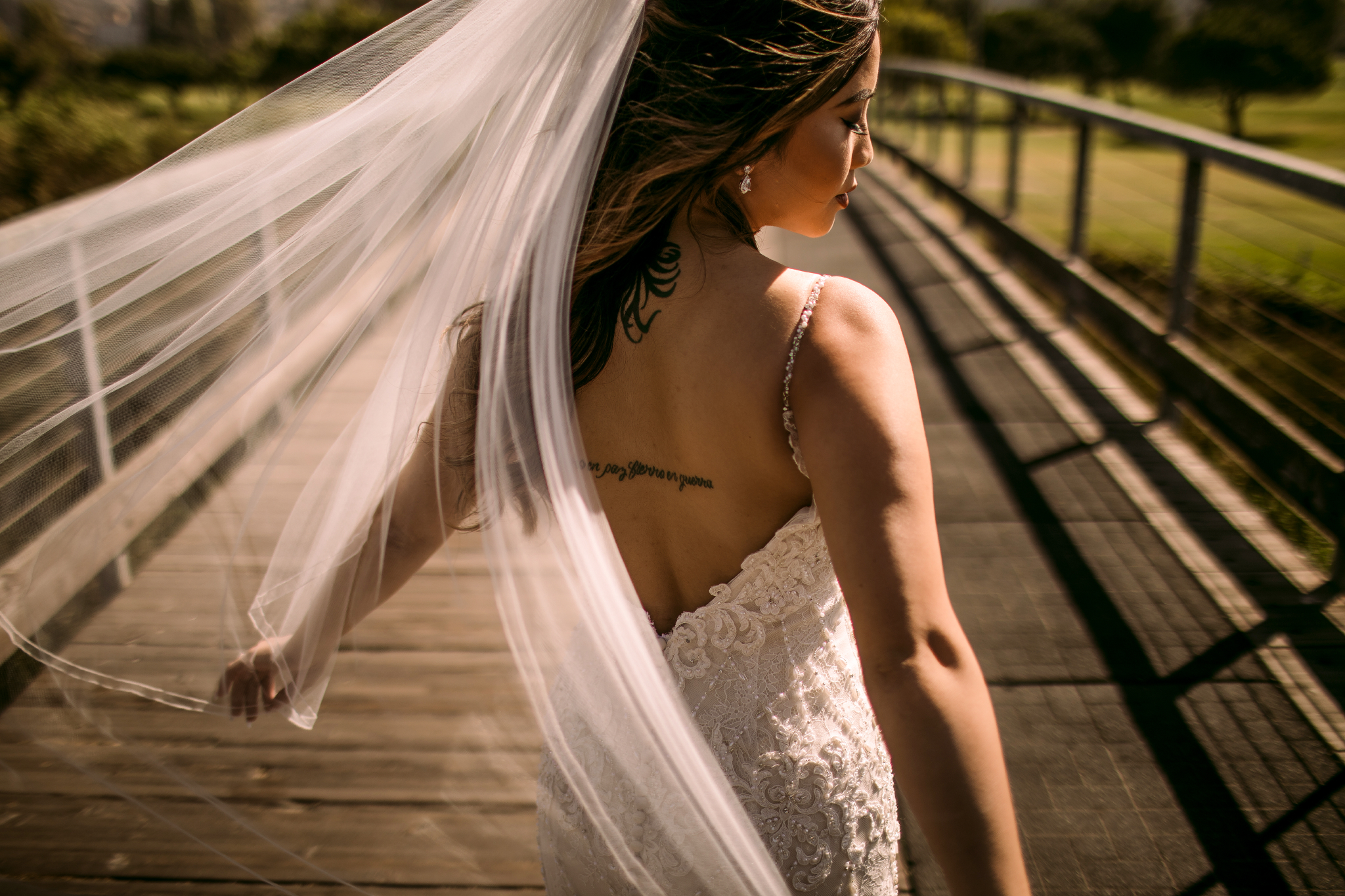 san diego wedding   photographer | woman in dress looking at the side