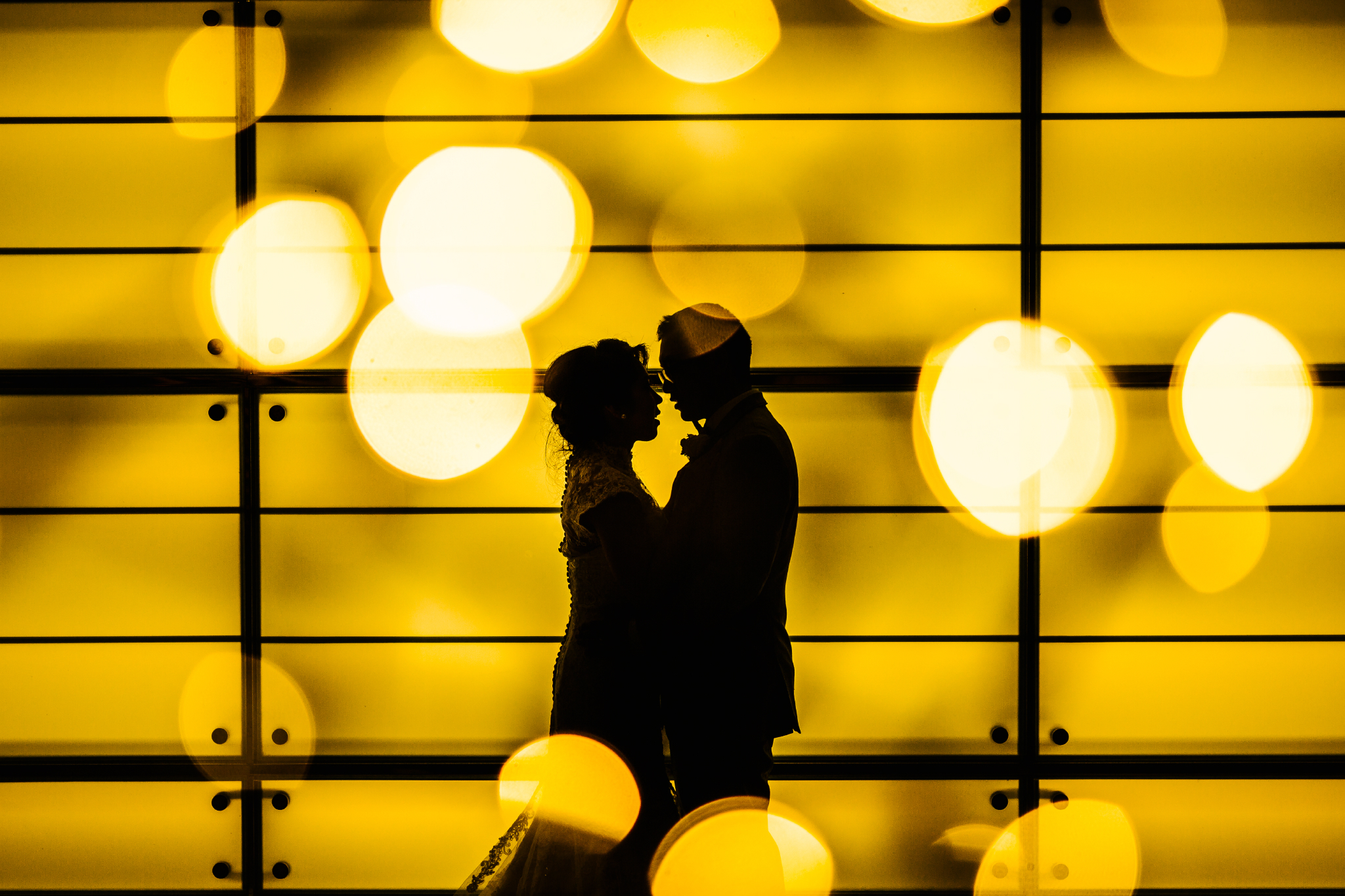 san diego wedding   photographer | couple looking at each other silhouette
