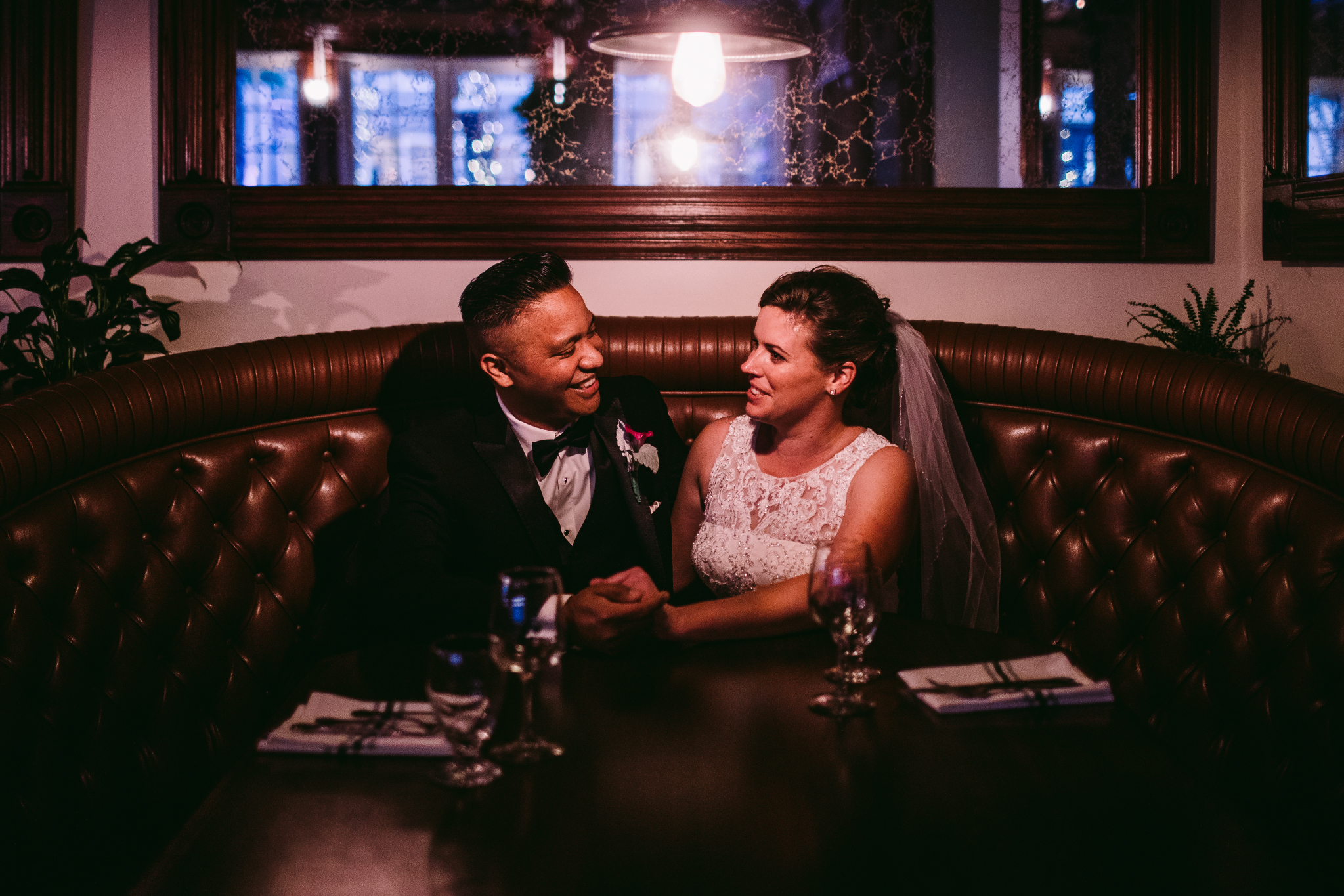 san diego wedding   photographer | couple laughing in booth