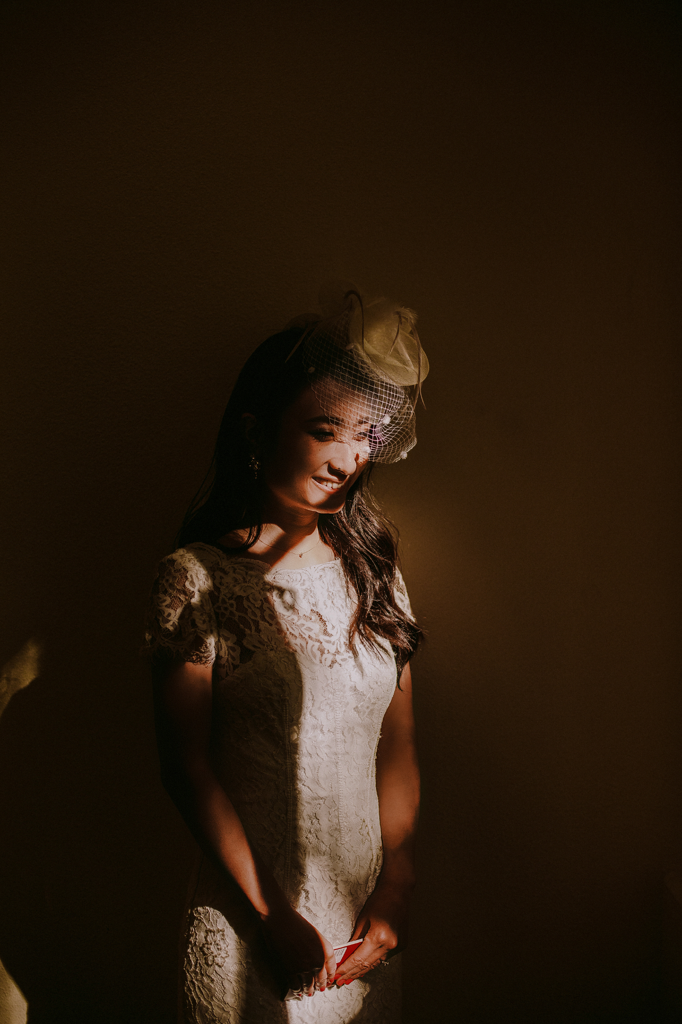 san diego wedding   photographer | woman in dress smiling under sunlight