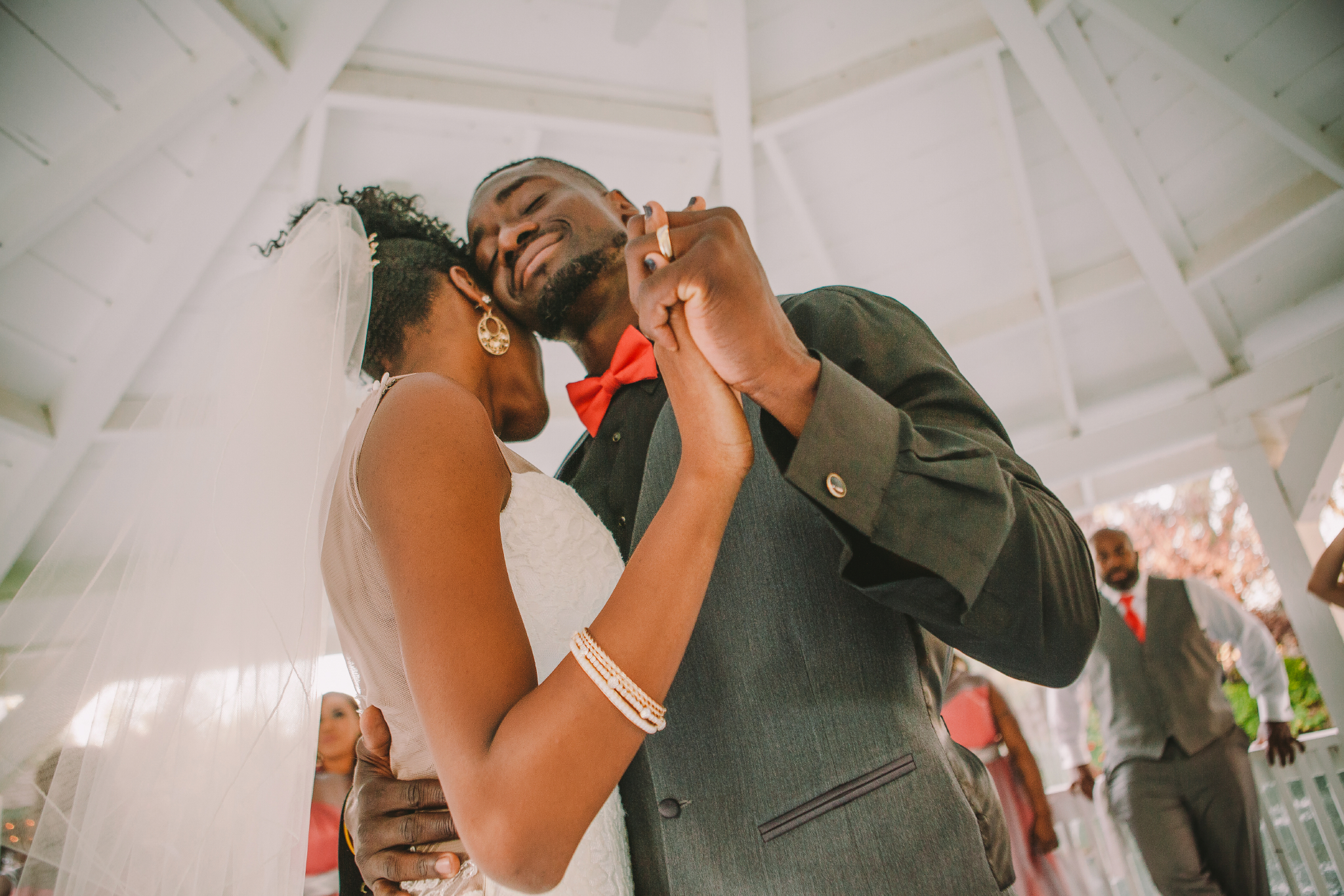 san diego wedding   photographer | couple dancing with man smiling