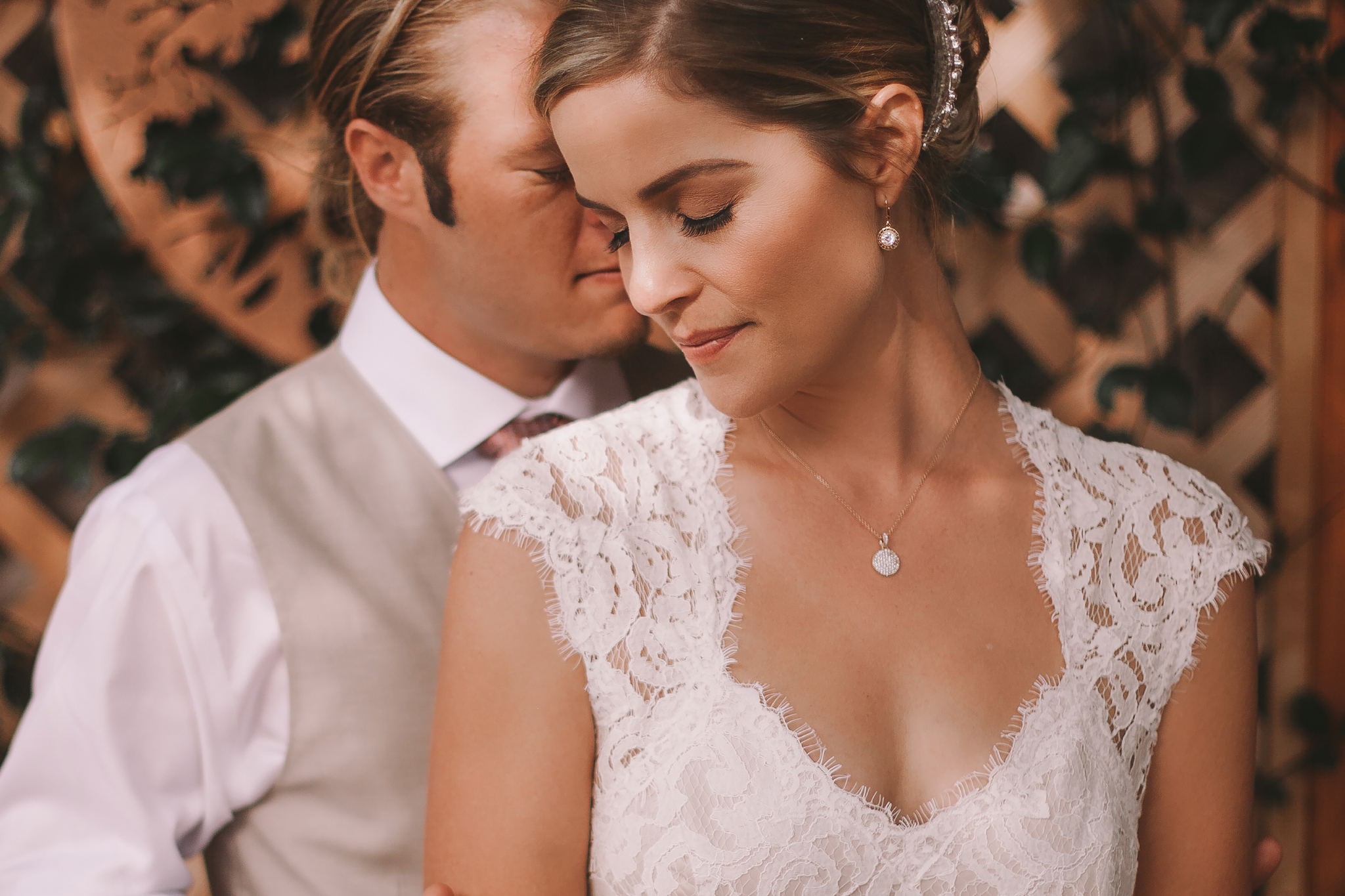 san diego wedding   photographer | man behind woman with closed eyes
