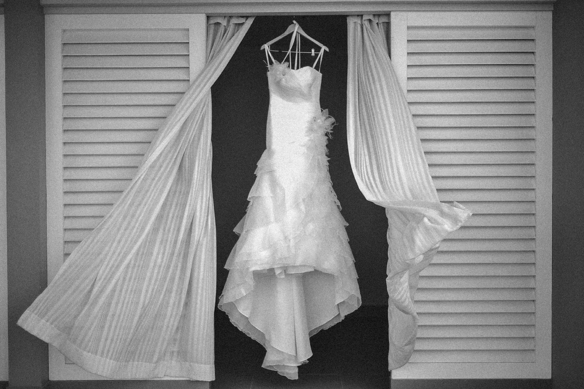 san diego wedding   photographer | wedding dress in closet