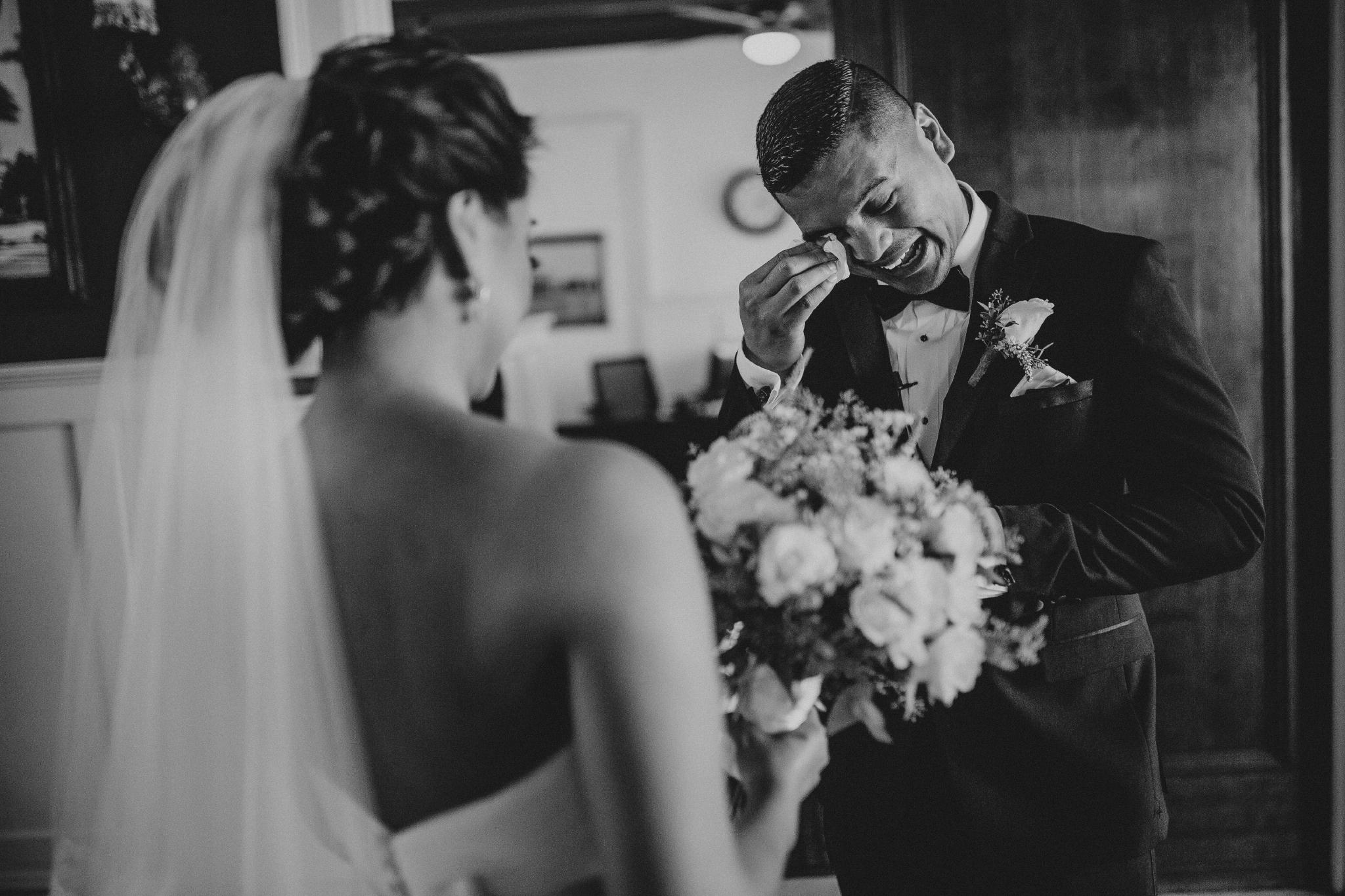 san diego wedding   photographer | couple with man crying