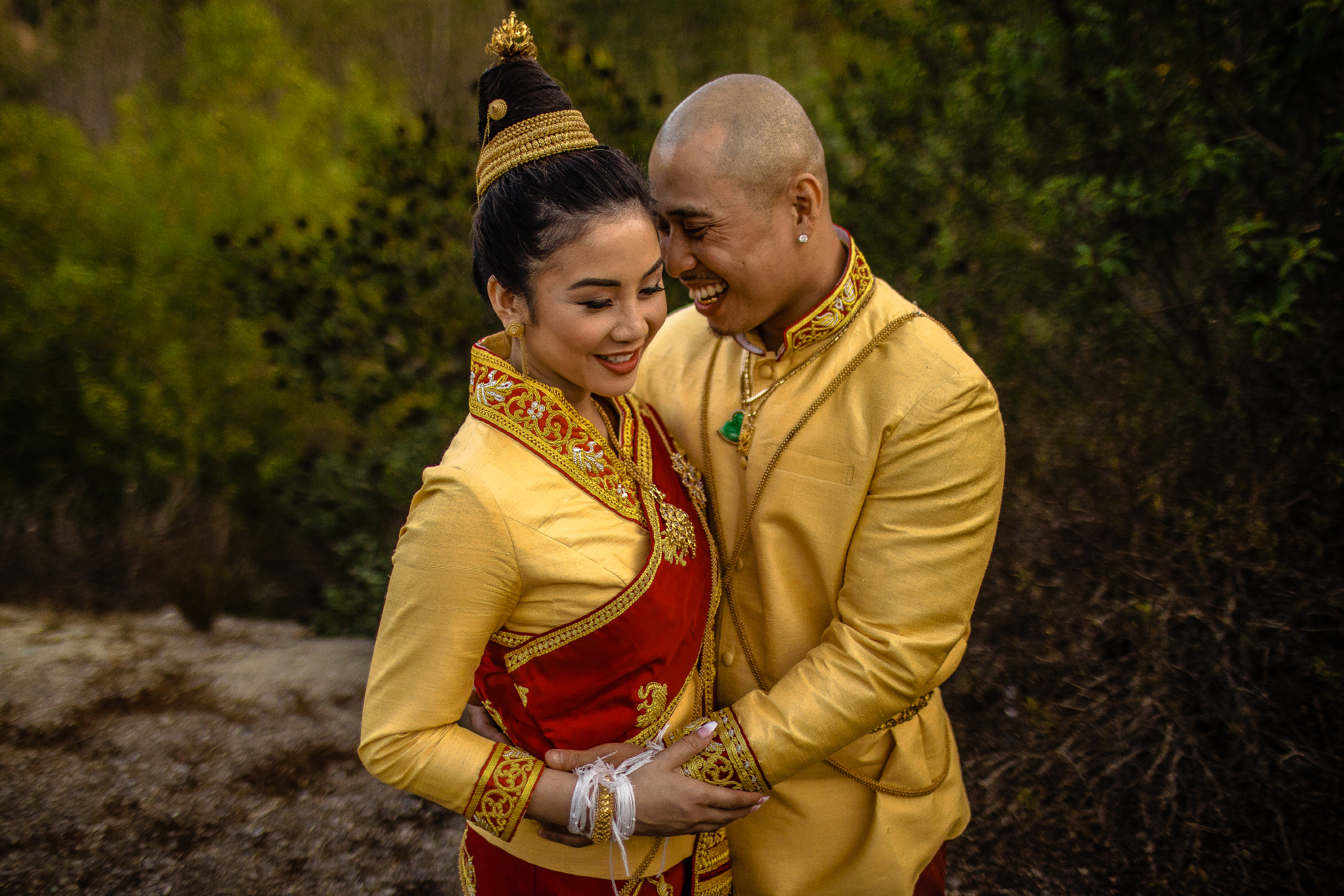san diego wedding   photographer | couple wearing traditional outfit