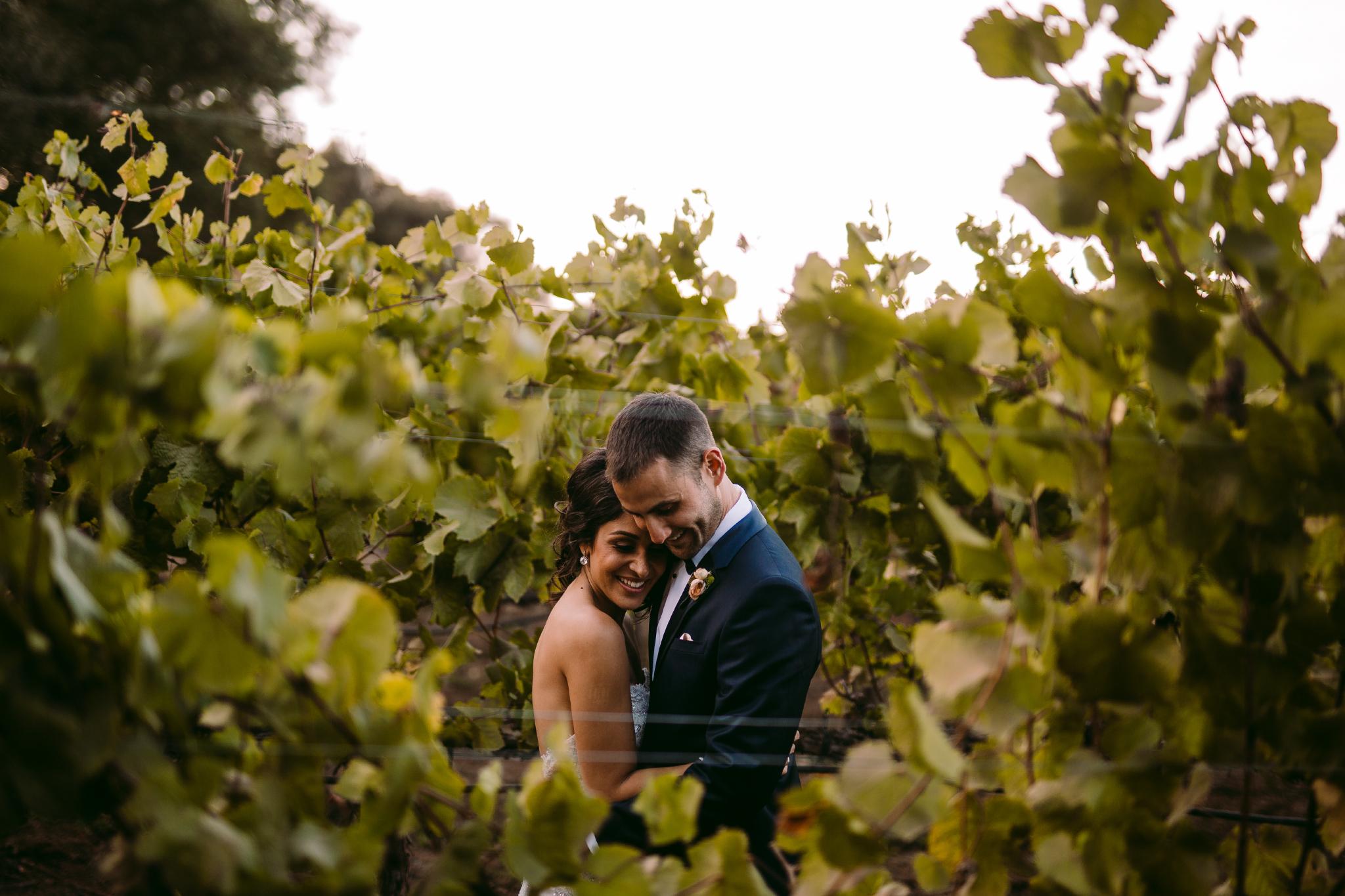 san diego wedding   photographer | couple behind plants