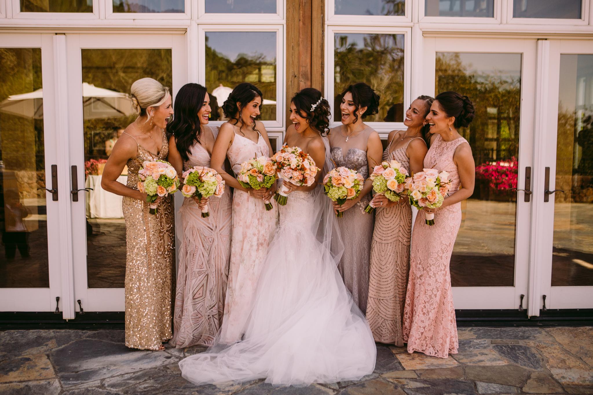 san diego wedding   photographer | bride with bridesmaids