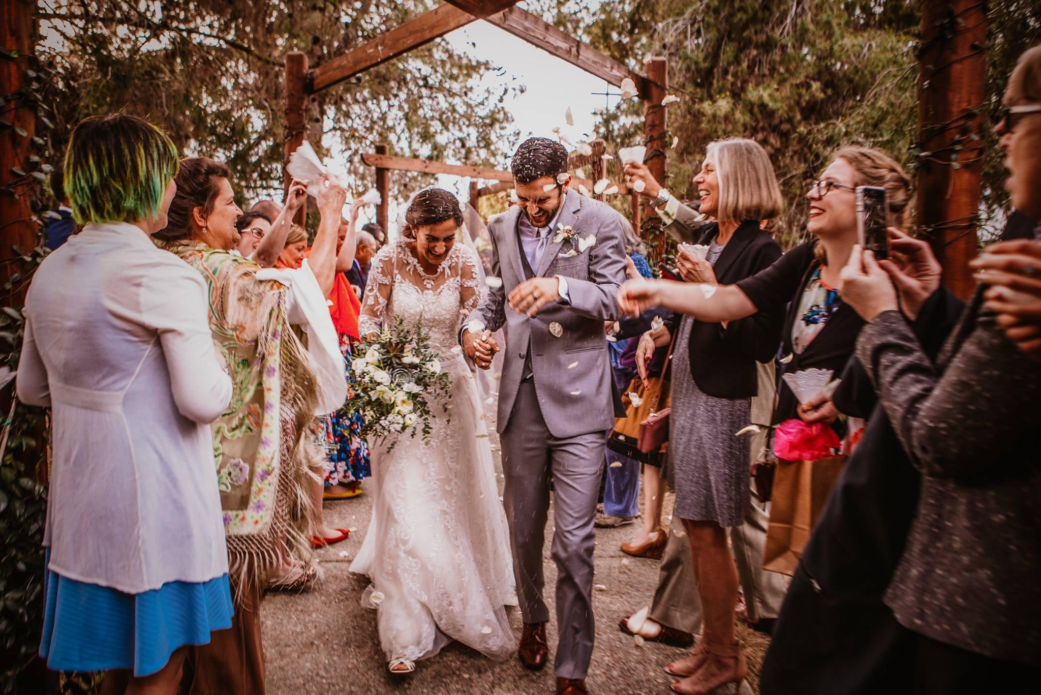 san diego wedding   photographer | couple walking through crowd