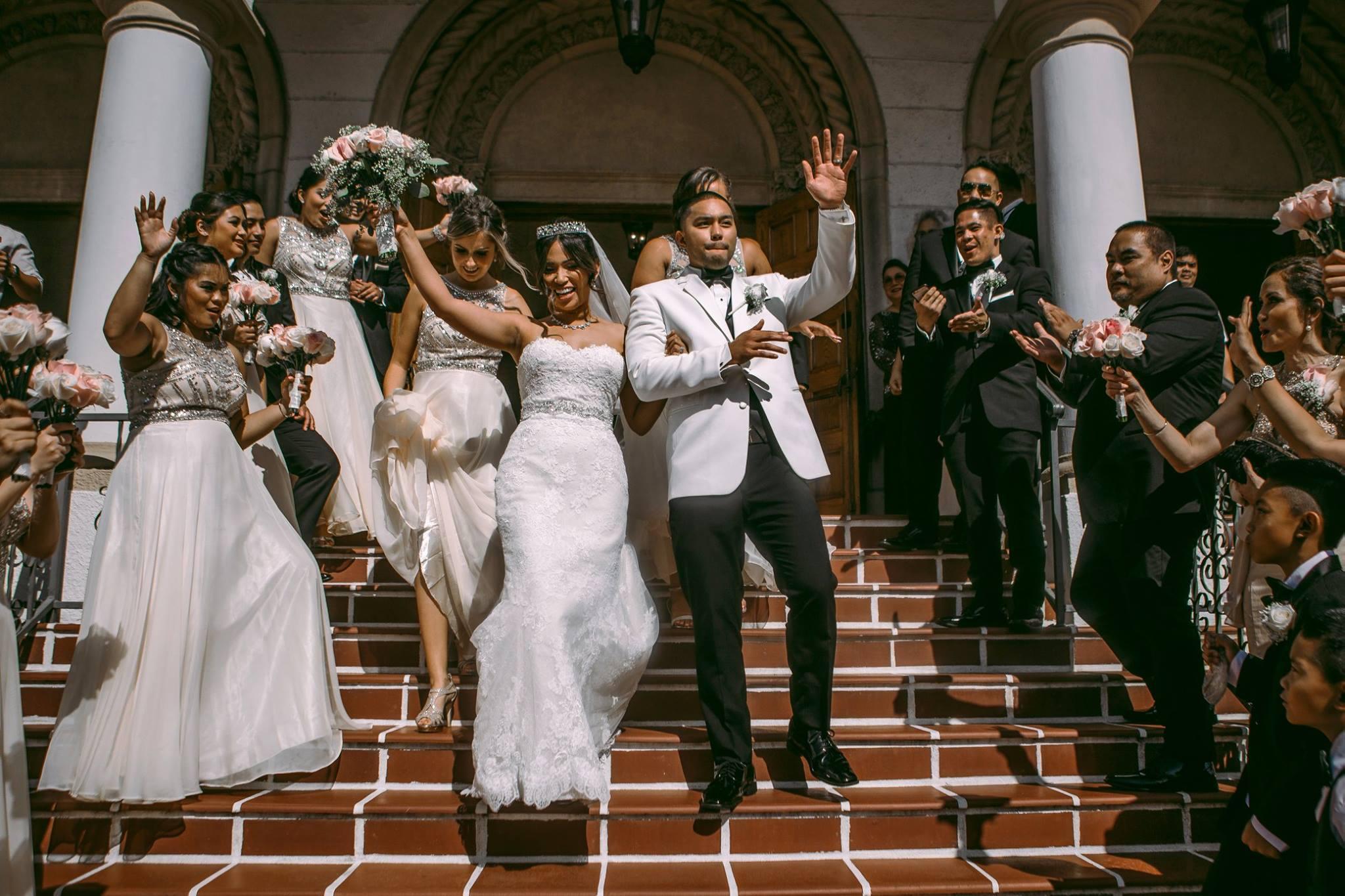 san diego wedding   photographer | couple walking downstairs