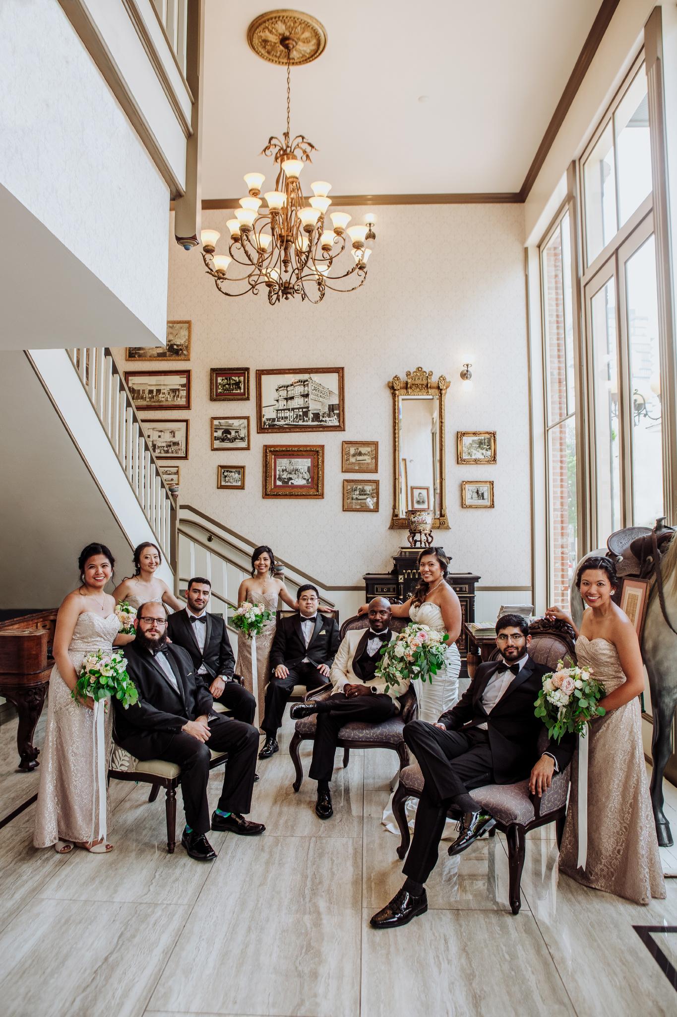 san diego wedding   photographer | group of men and women in wedding attire