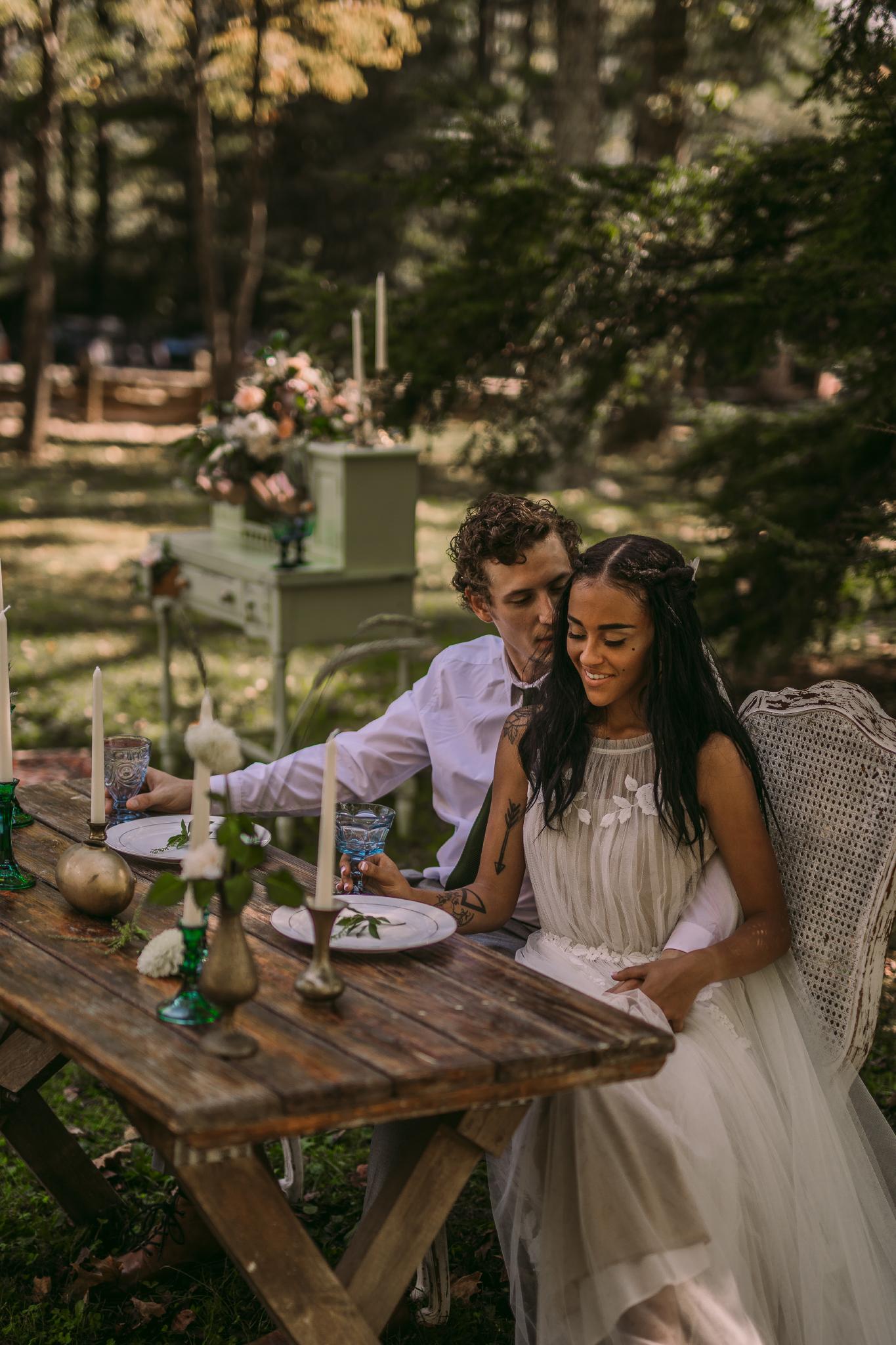 san diego wedding   photographer | couple sitting behind table