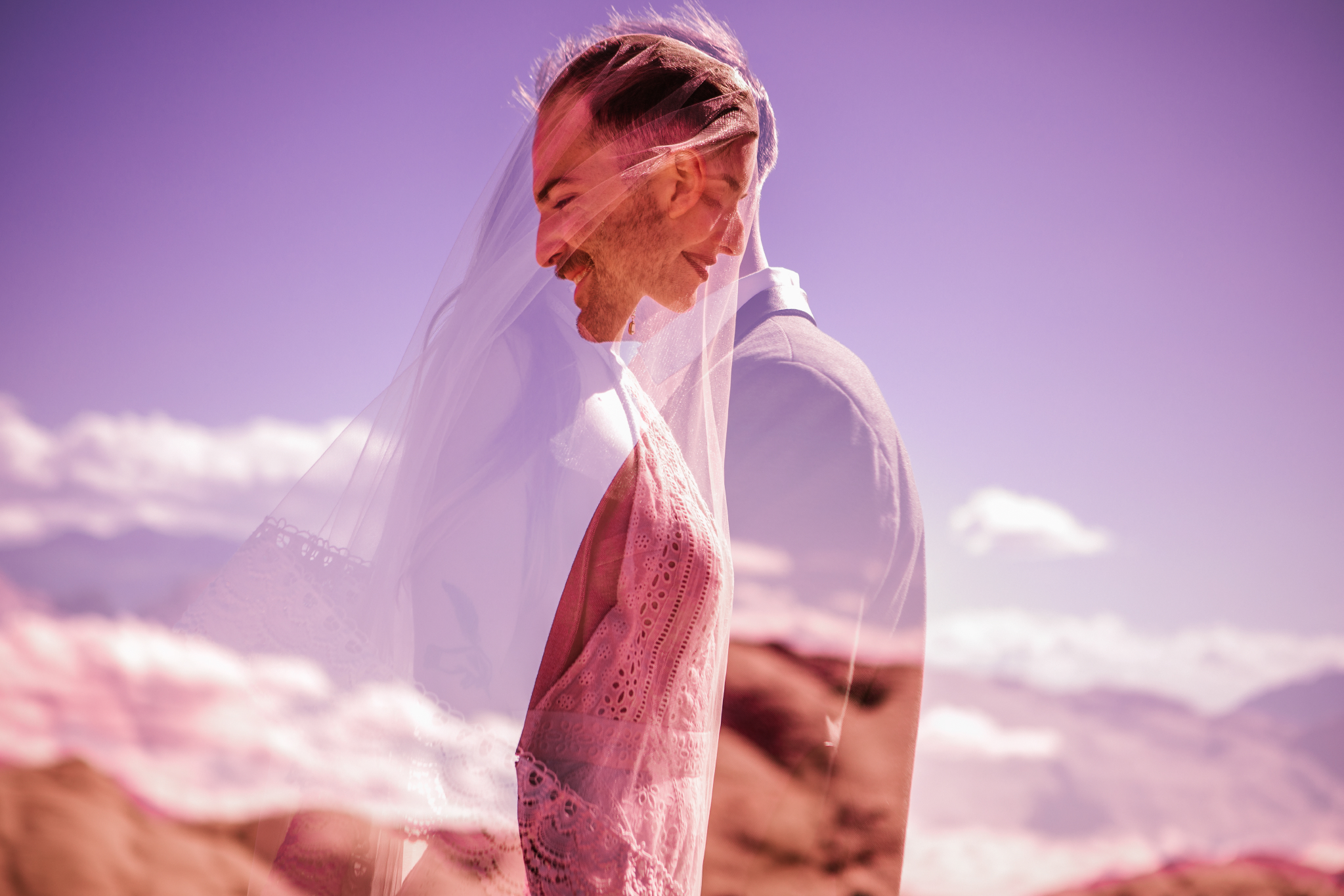 san diego wedding   photographer | double exposure man and woman