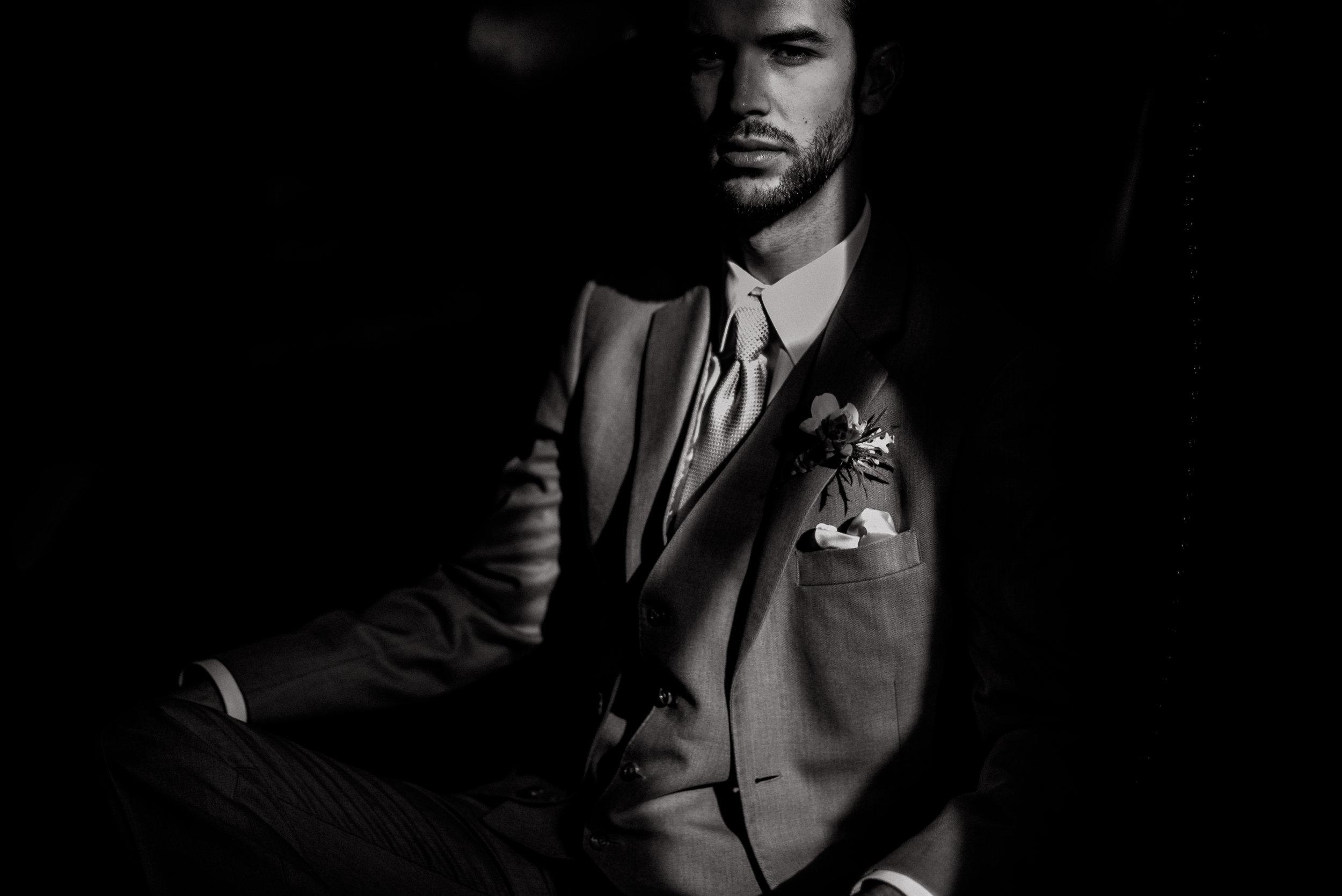 san diego wedding   photographer | man in shadows