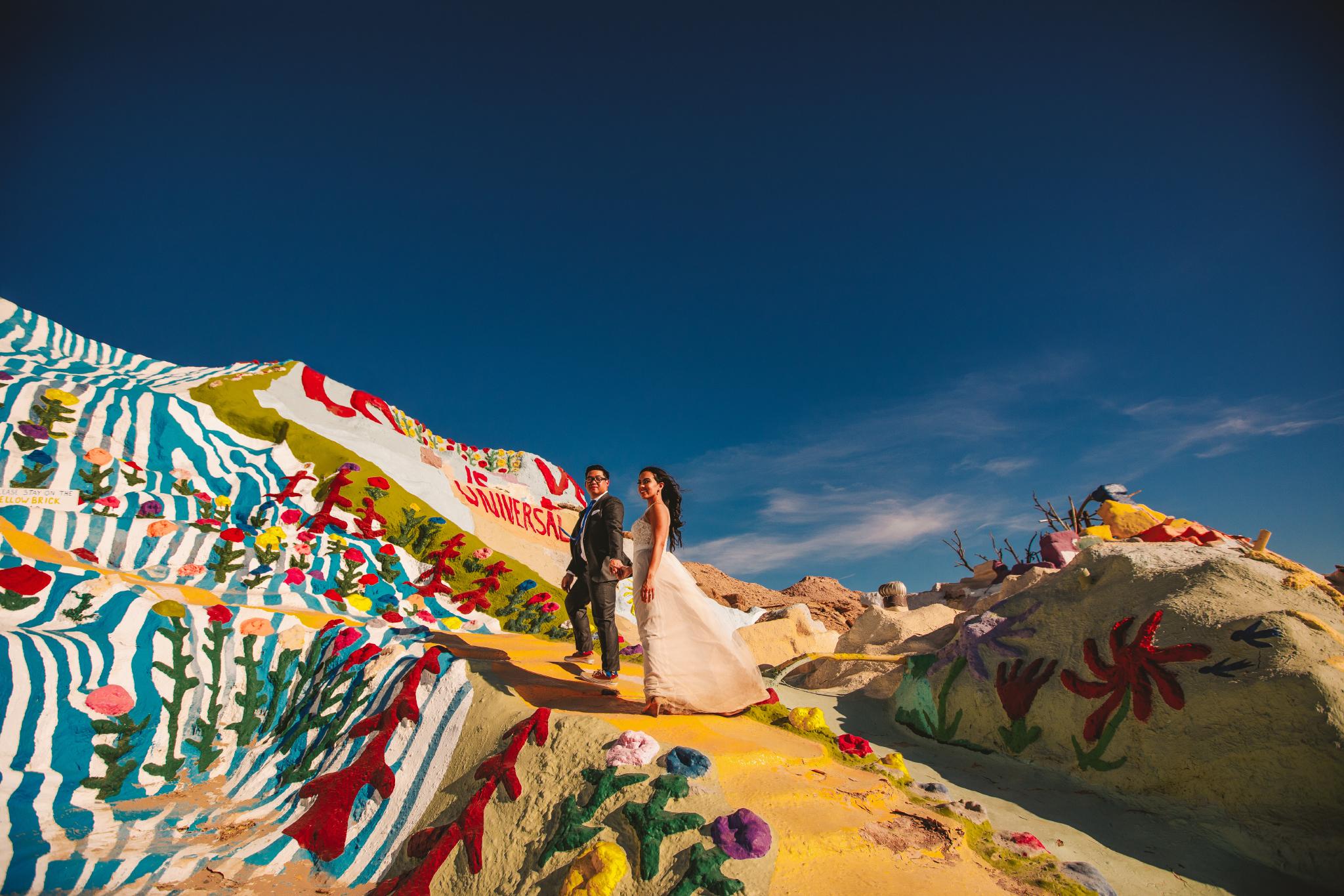 san diego wedding   photographer | couple walking uphill